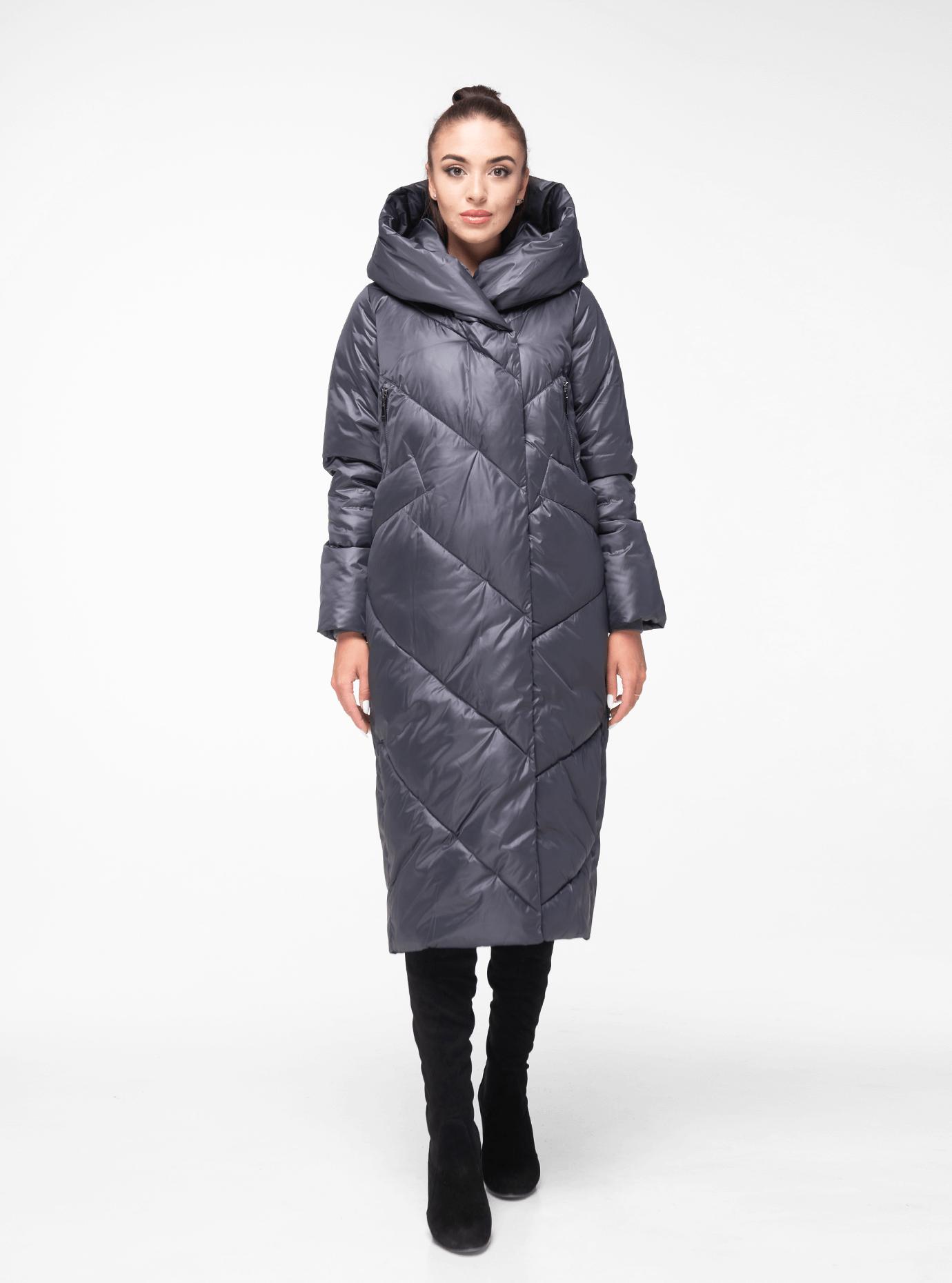 Куртка зимова стьобана Графітовий 44 (02-BF19030): фото - Alster.ua