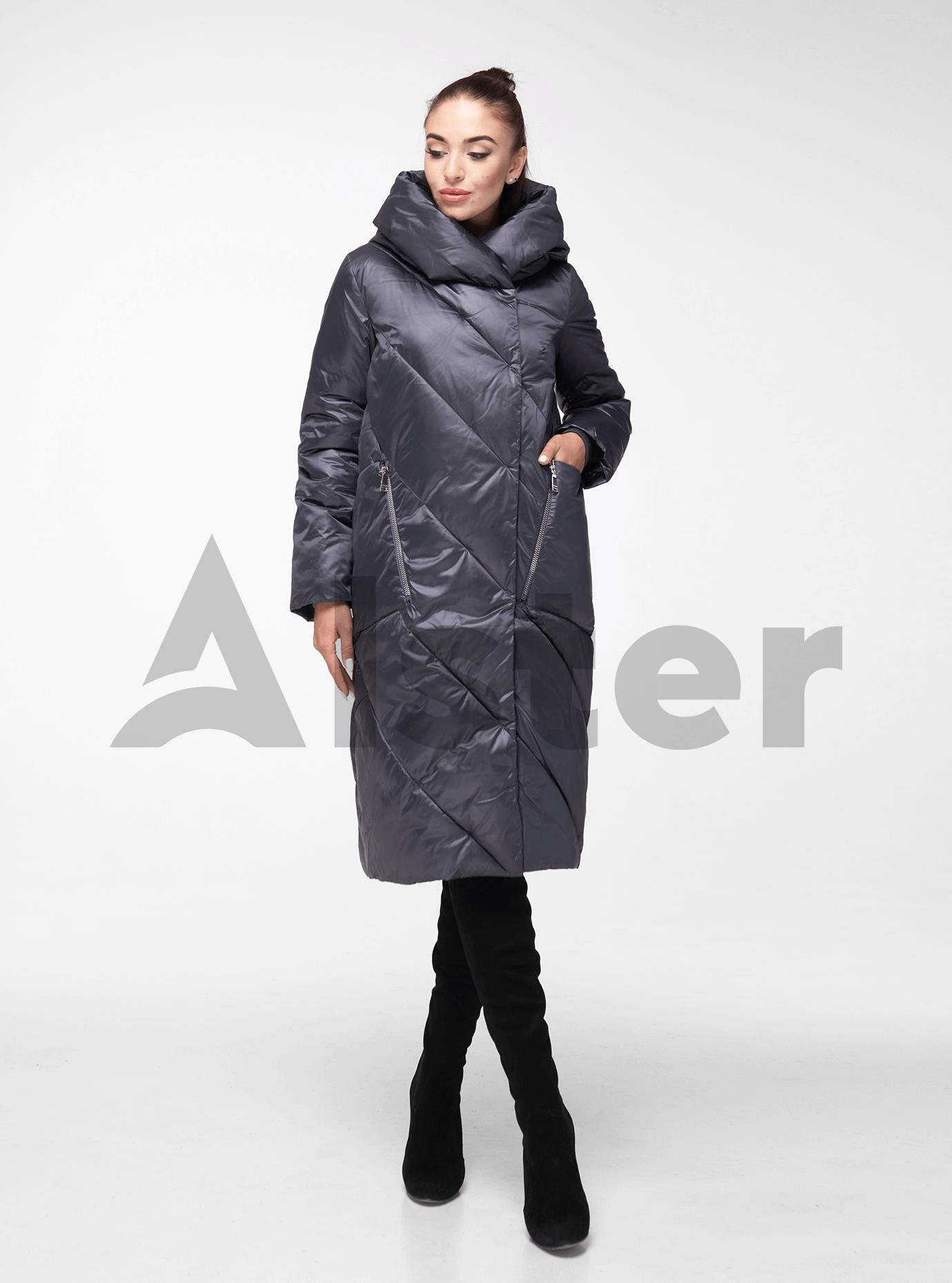 Куртка зимняя с капюшоном Графитовый 50 (02-BF19041): фото - Alster.ua