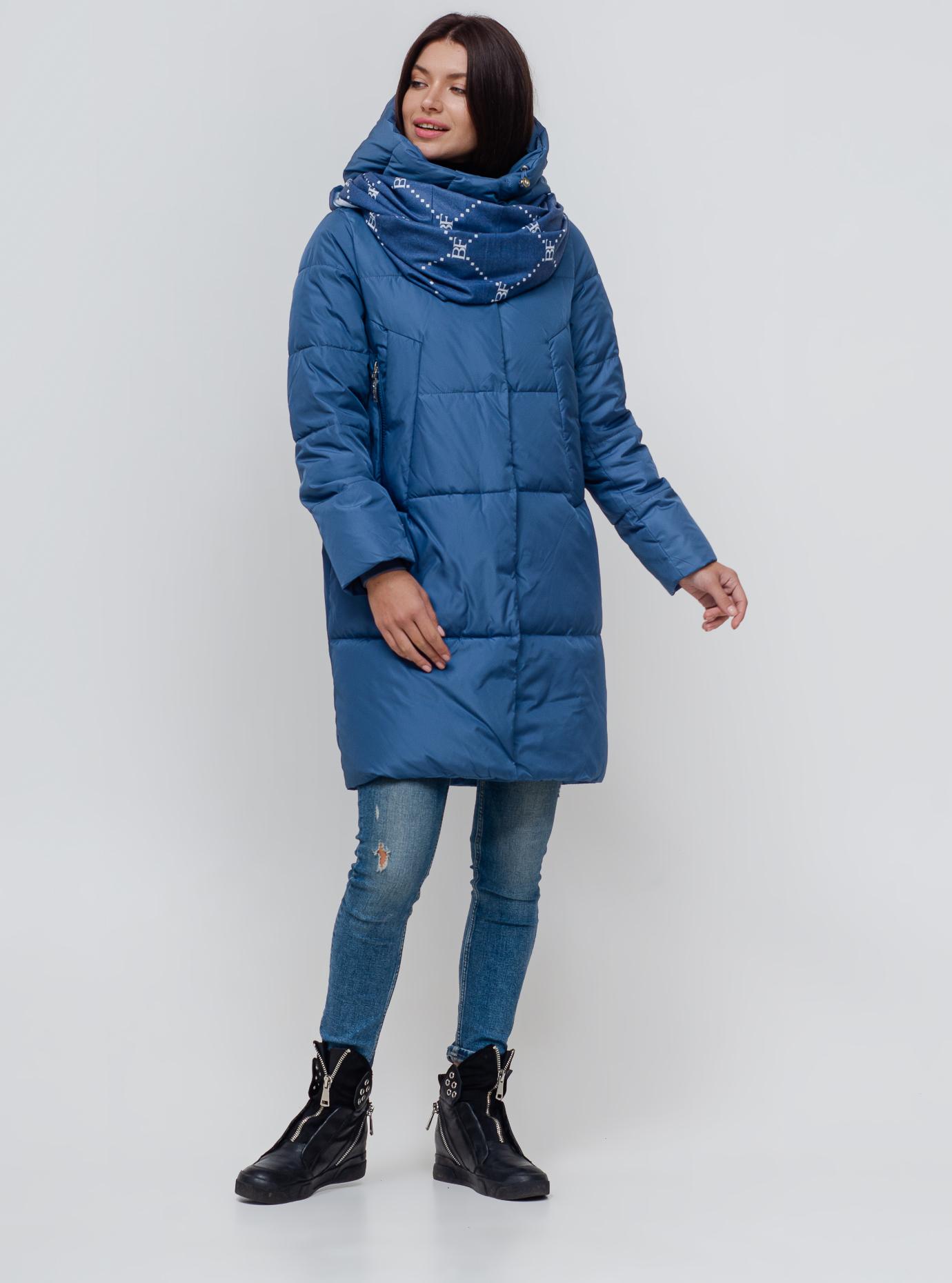 Куртка зимова довга стьобана Джинс 42 (02-N200203): фото - Alster.ua