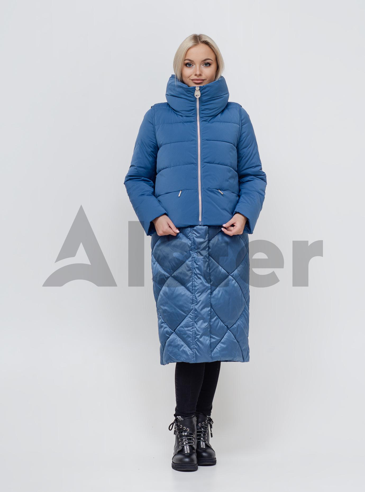 Куртка зимняя длинная с жилетом Джинс 42 (02-N200158): фото - Alster.ua