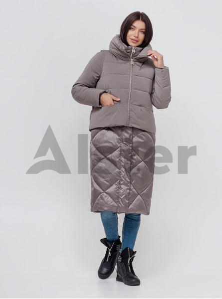 Куртка зимова довга з жилетом