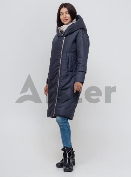 Куртка зимова довга з манишкою