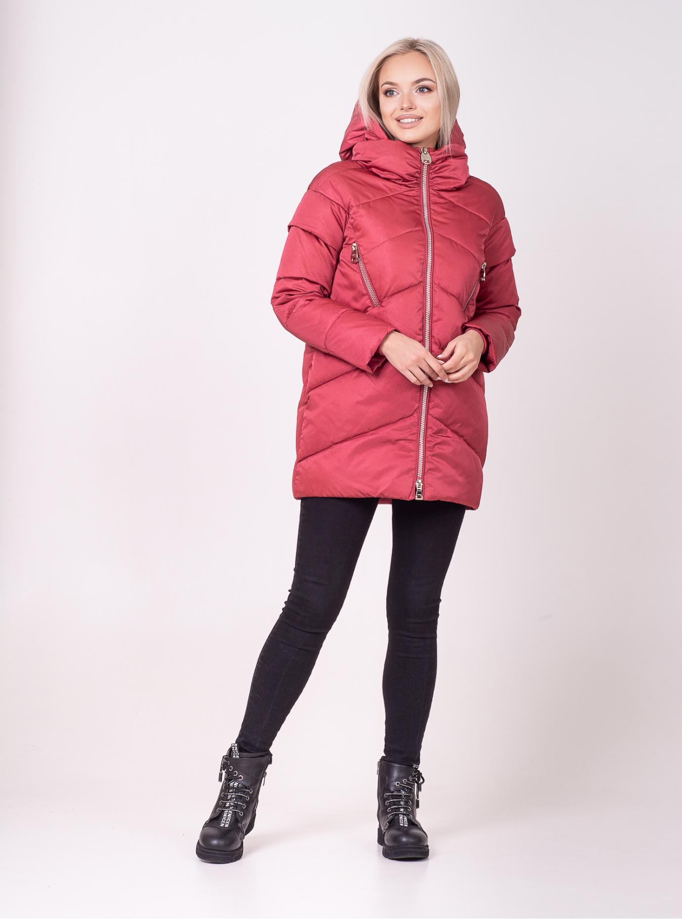 Зимняя куртка-жилет средней длины Ягода 42 (01-N200276): фото - Alster.ua