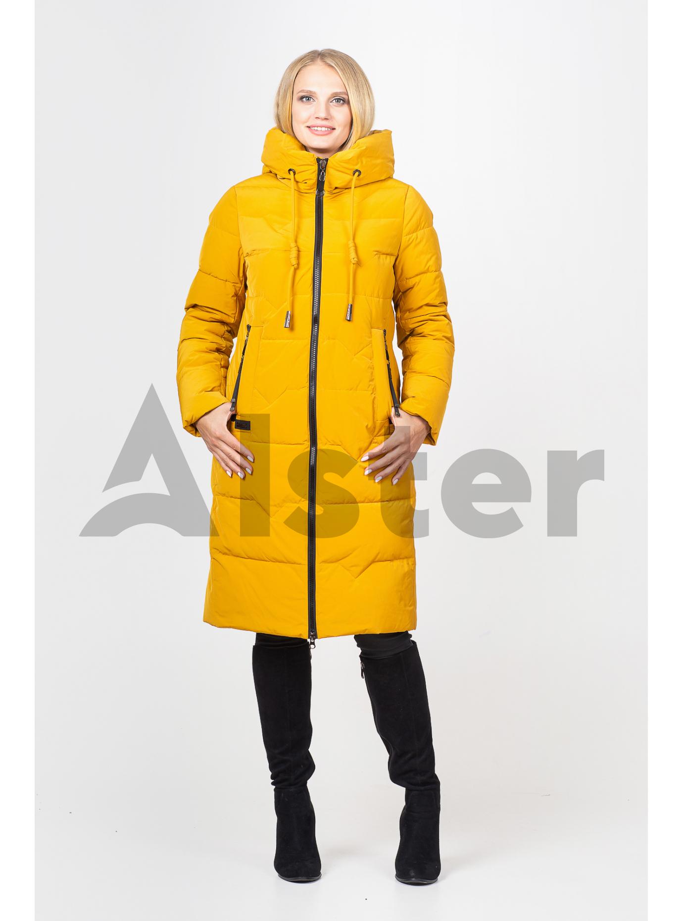 Куртка зимова жіноча довга Темно-жовтий L (07-VP201389): фото - Alster.ua