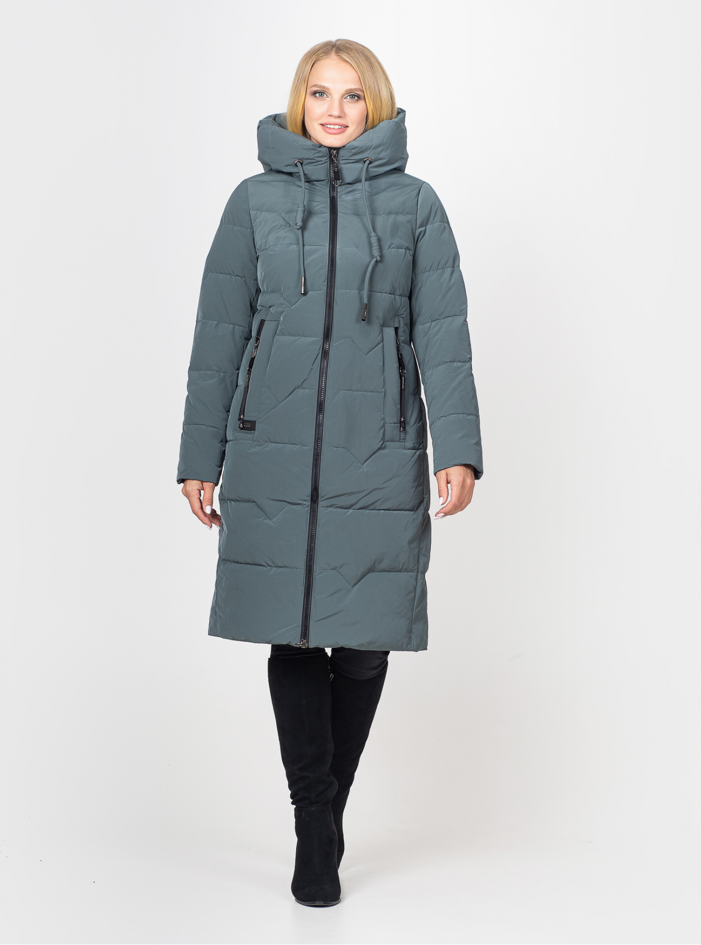 Куртка зимова жіноча довга Смарагд L (07-VP201383): фото - Alster.ua