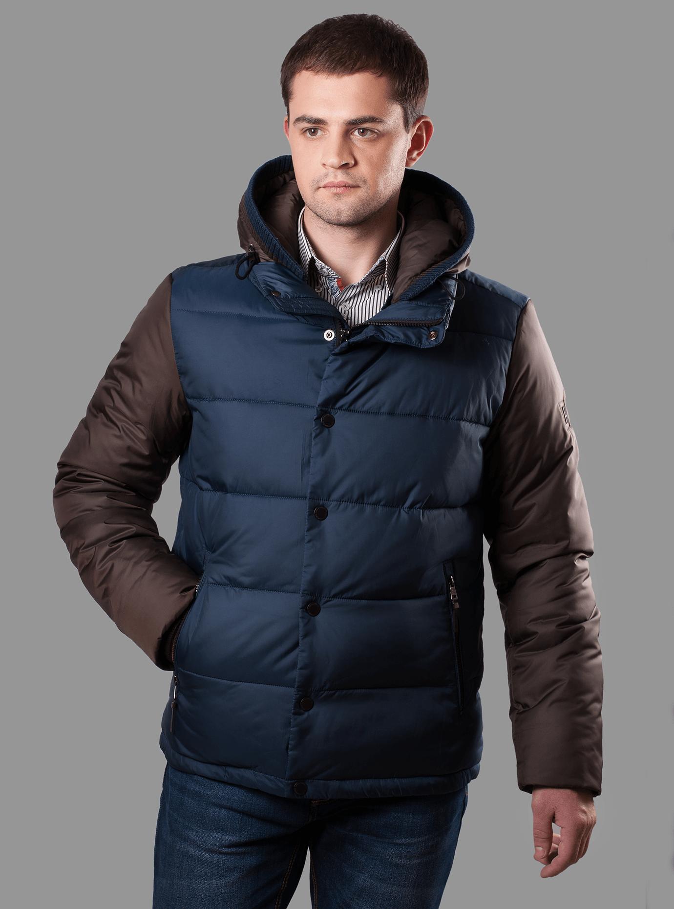 Зимняя мужская куртка Синий 46 (02-MC19193): фото - Alster.ua