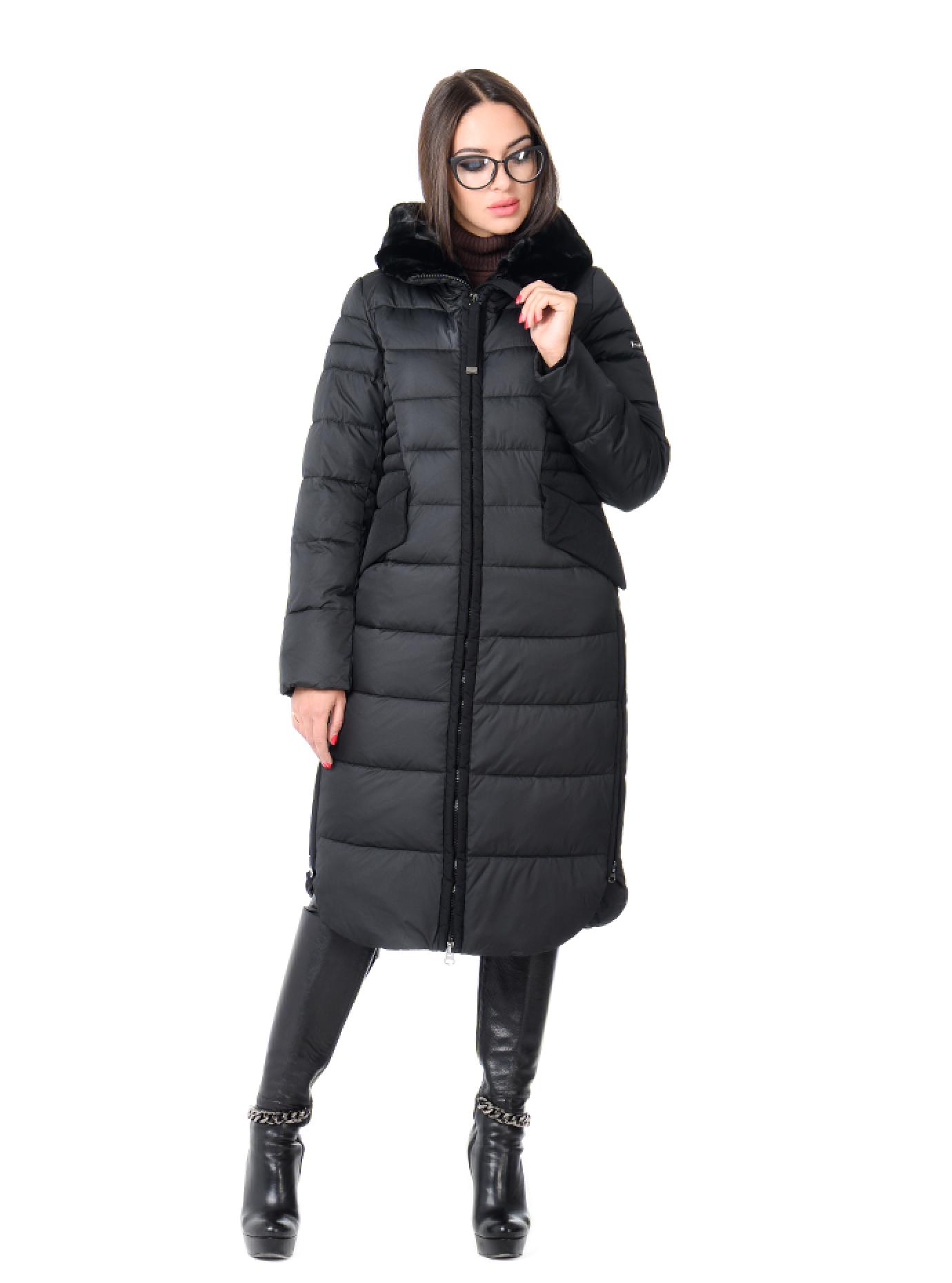 Куртка зимняя женская на молнии Чёрный S (02-CR170376): фото - Alster.ua