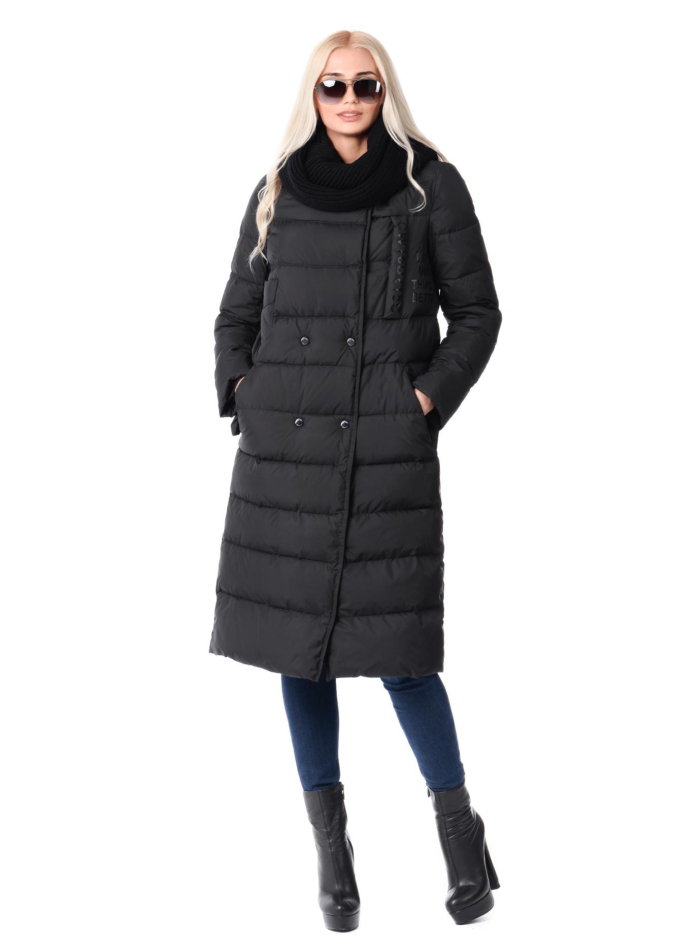 Куртка зимняя женская длинная Чёрный S (02-CR170393): фото - Alster.ua
