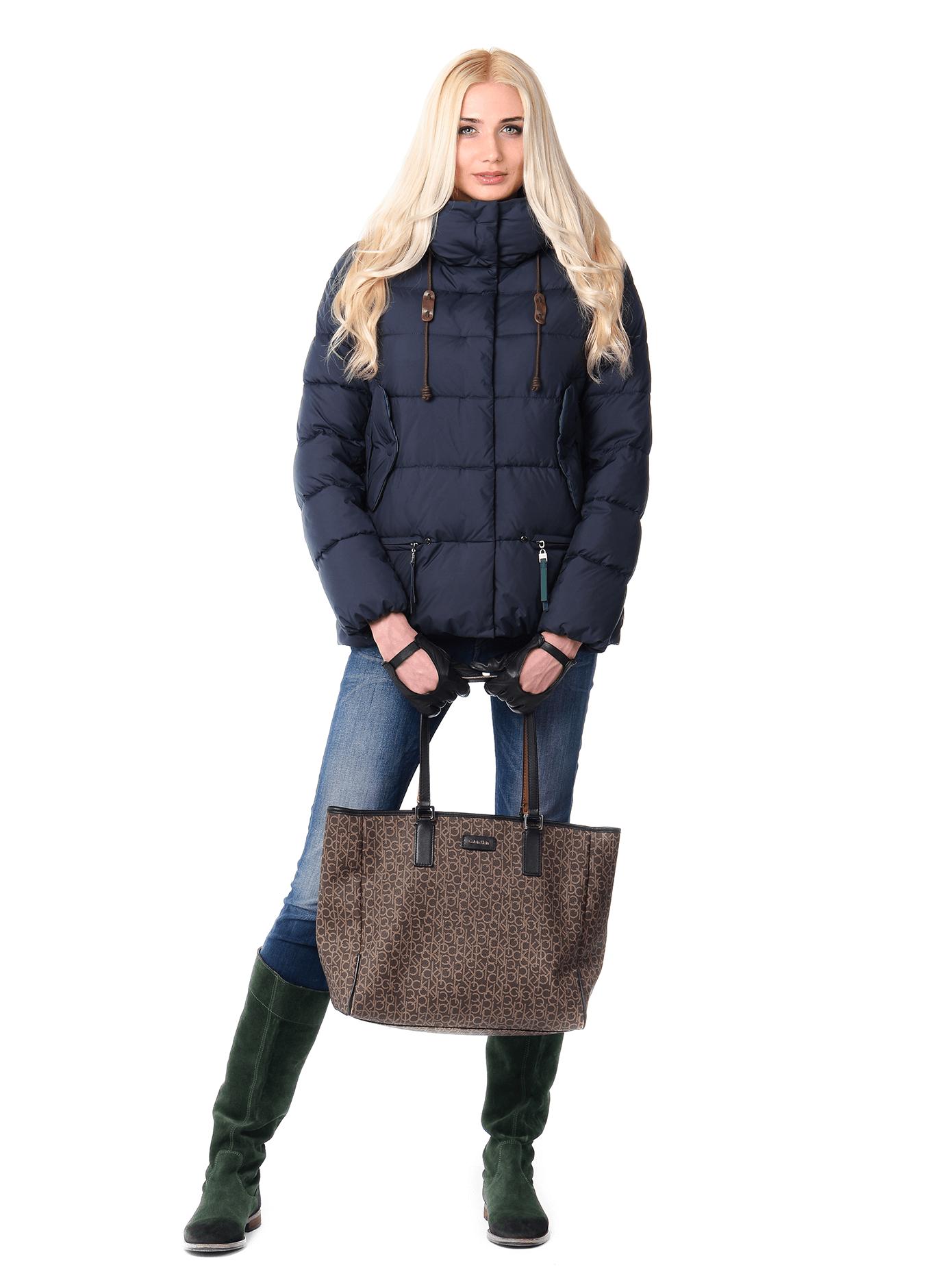 Куртка зимняя женская с карманами на молнии Чёрный S (02-CR170392): фото - Alster.ua