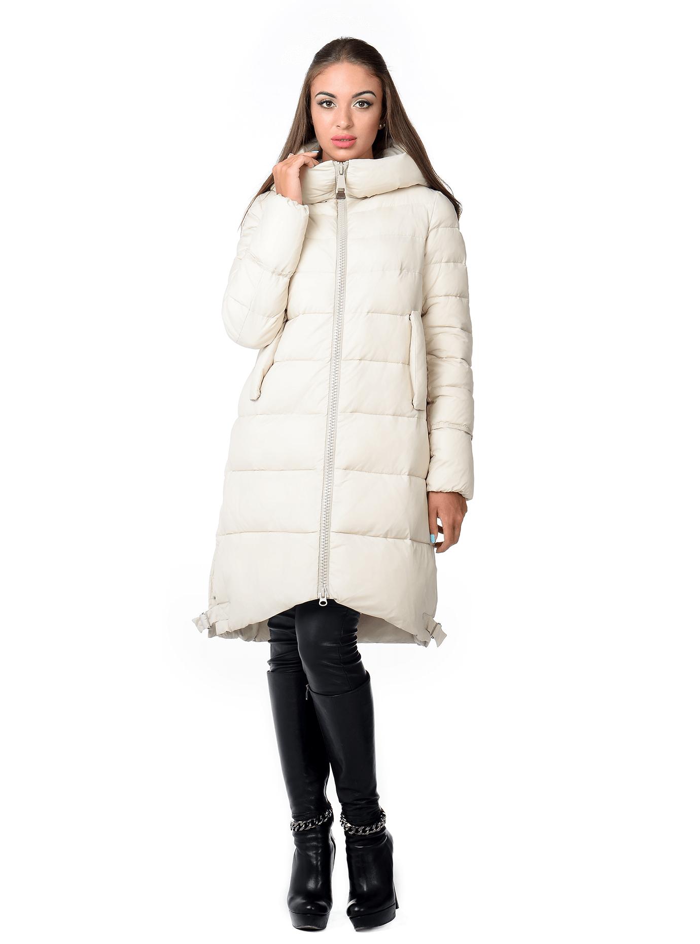 Куртка зимняя женская на молнии Молочный XL (02-CR170359): фото - Alster.ua