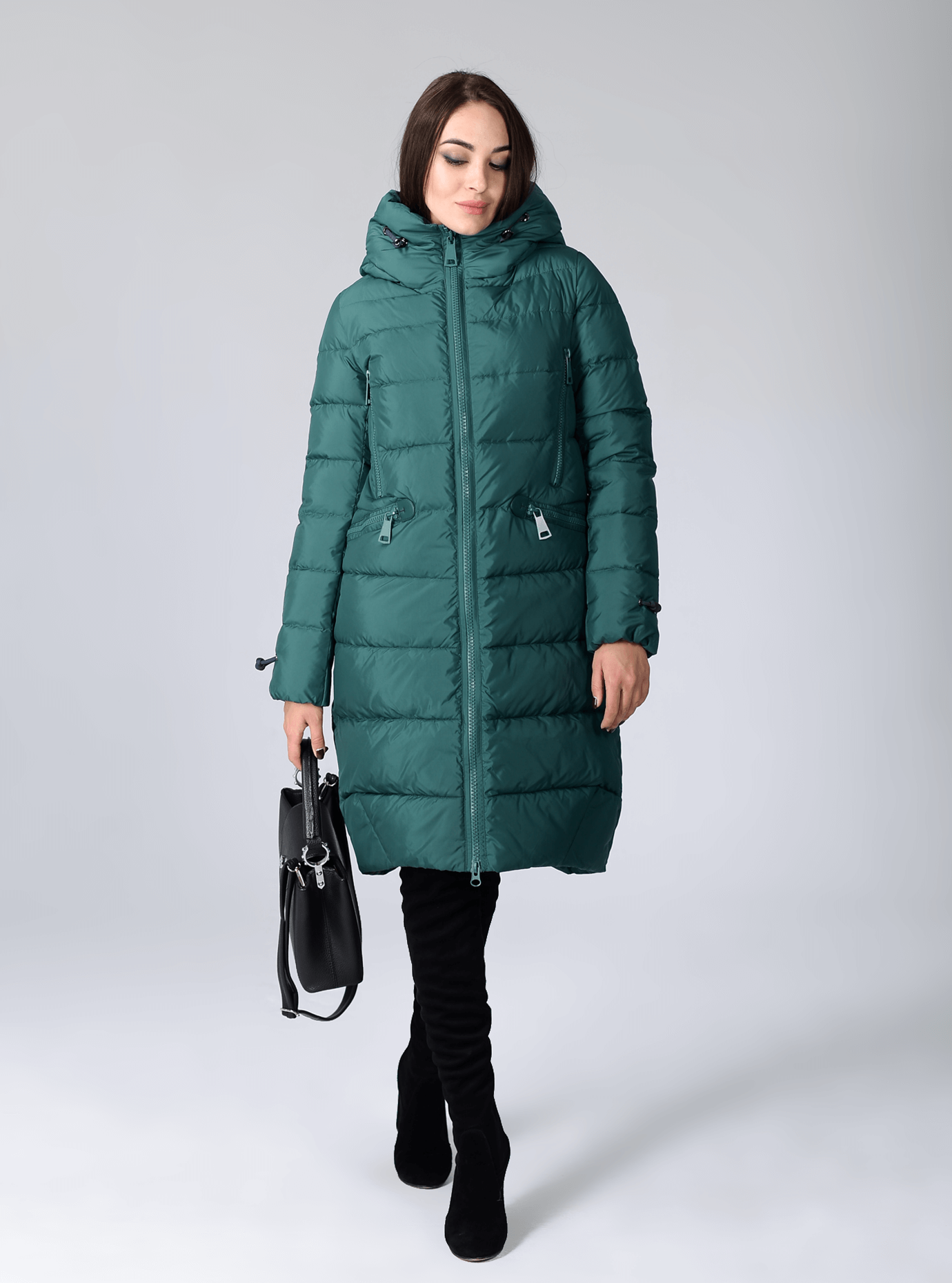 Куртка зимняя женская свободный фасон Чёрный S (02-CR170328): фото - Alster.ua