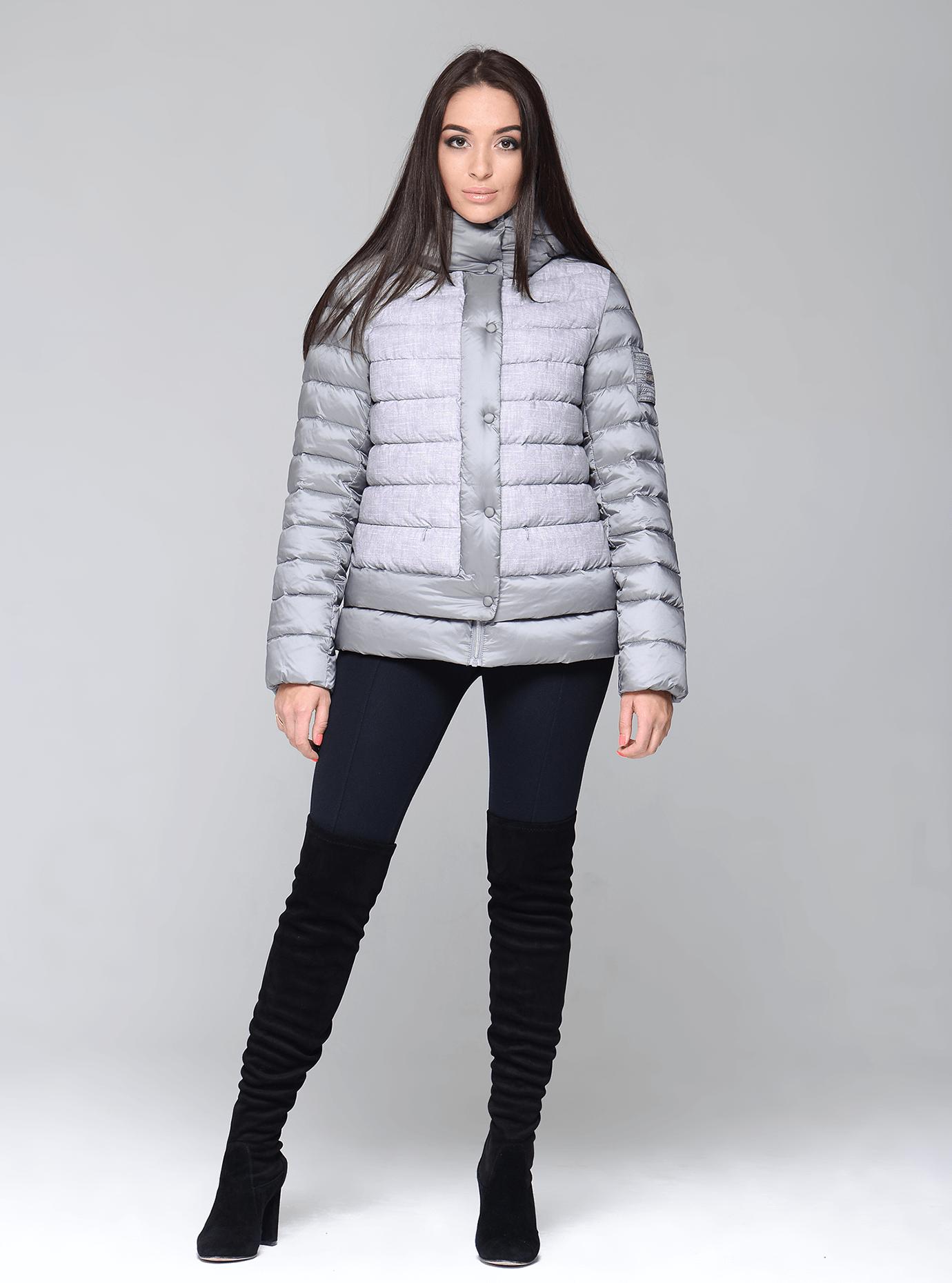 Куртка зимняя женская укороченная Чёрный S (02-CR170323): фото - Alster.ua