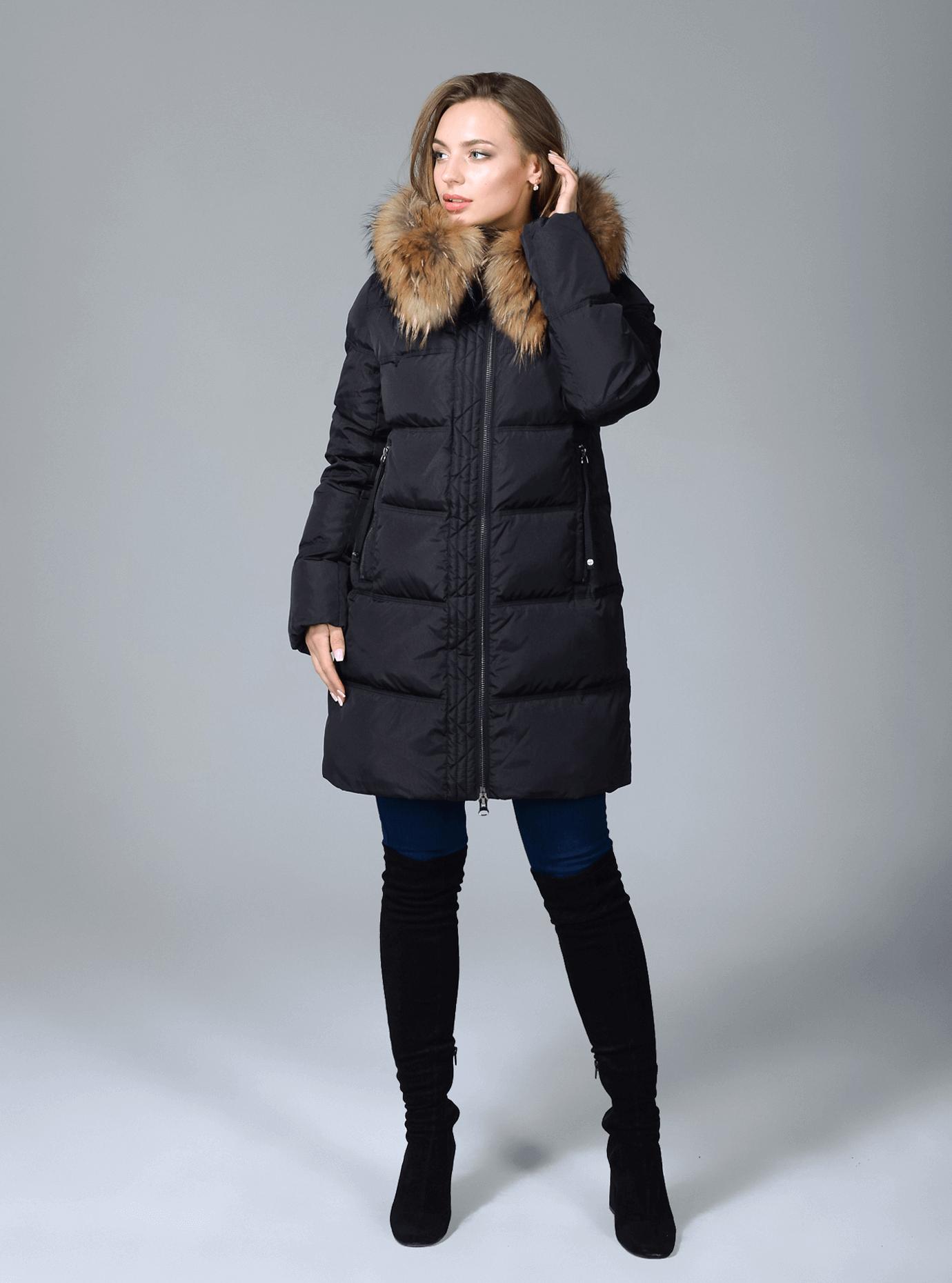 Куртка зимняя женская на молнии Чёрный S (02-CR170248): фото - Alster.ua