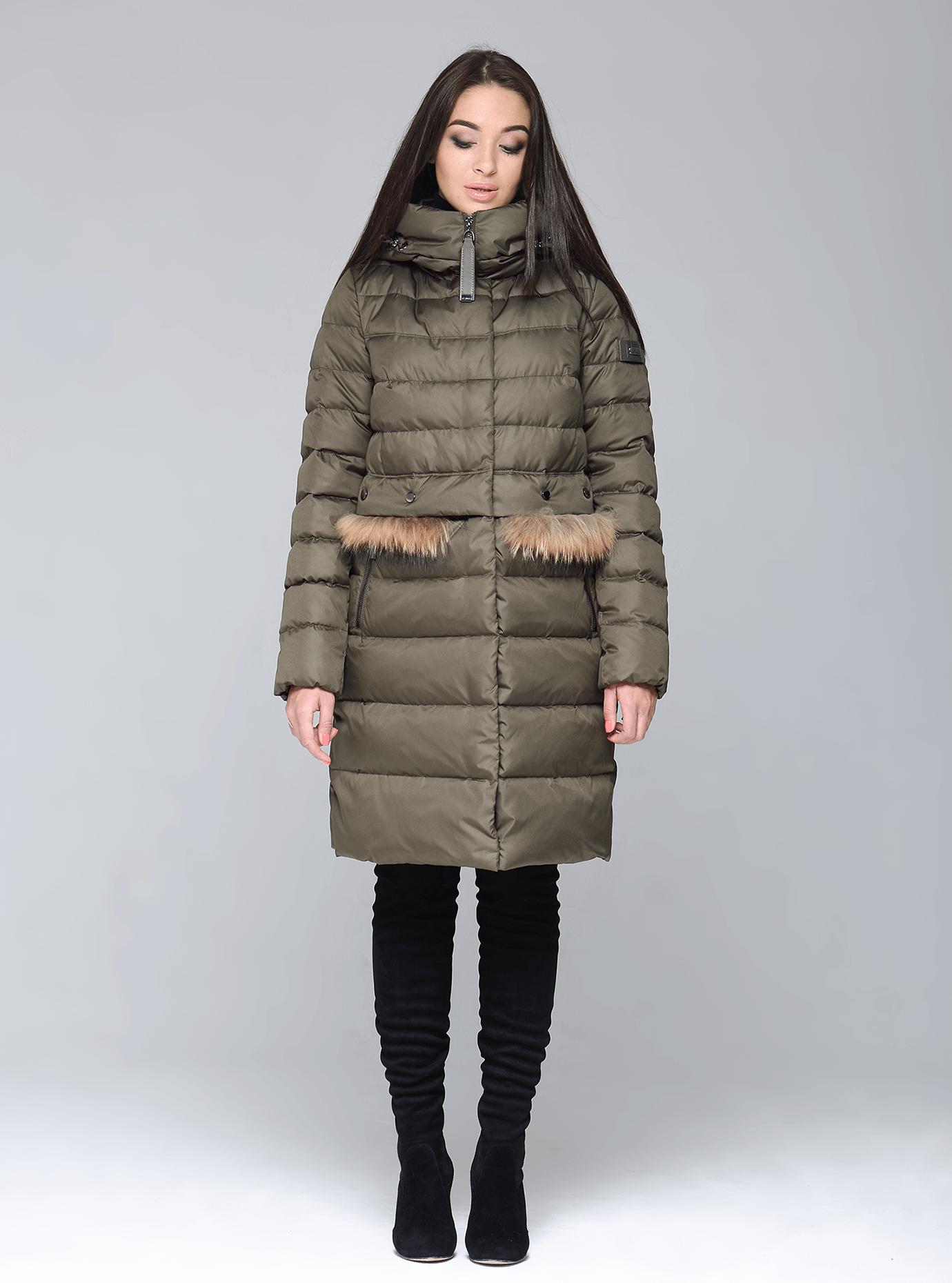 Куртка зимняя женская меховые вставки Чёрный S (02-CR170256): фото - Alster.ua