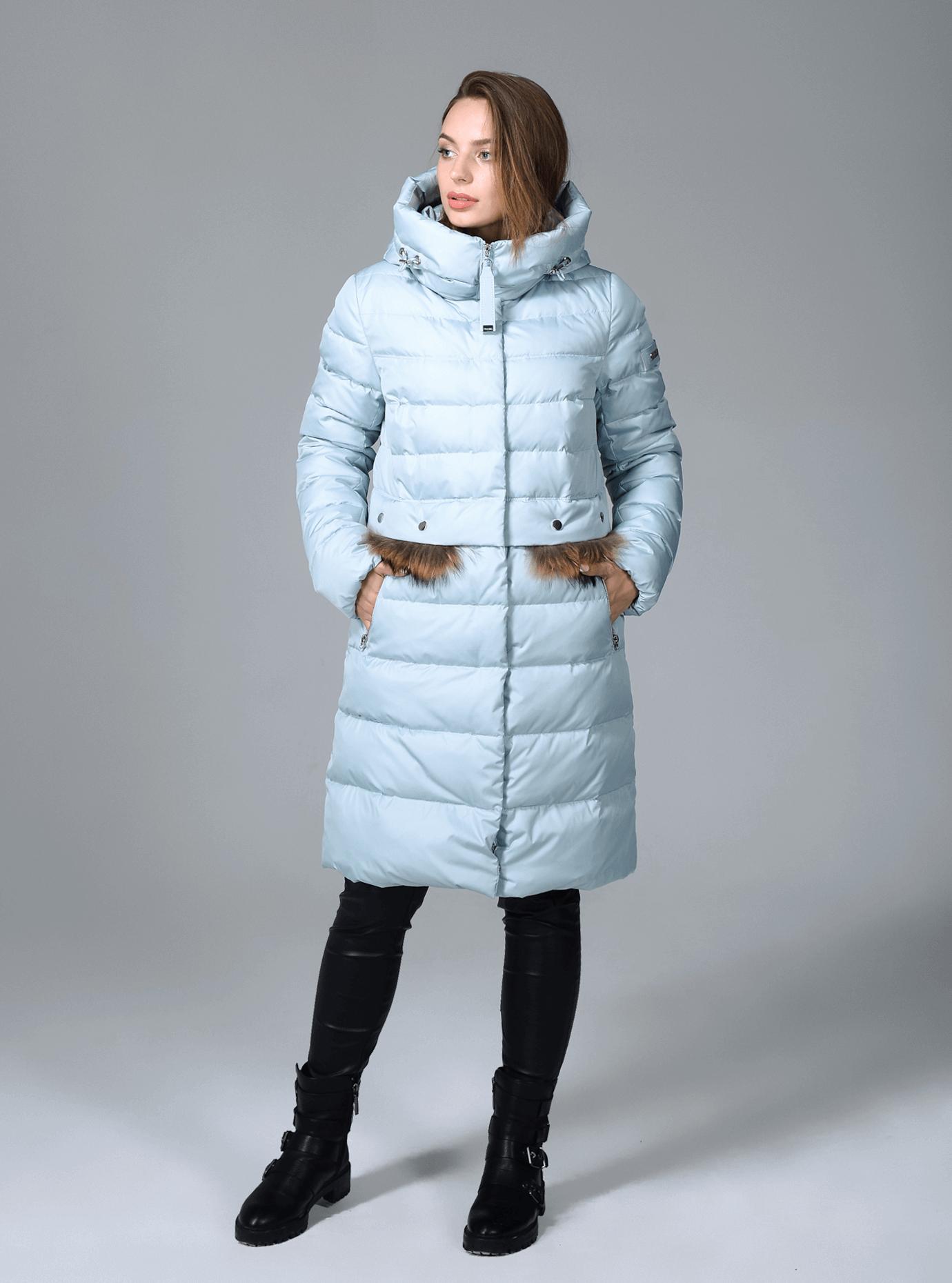 Куртка зимняя женская меховые вставки Чёрный S (02-CR170339): фото - Alster.ua