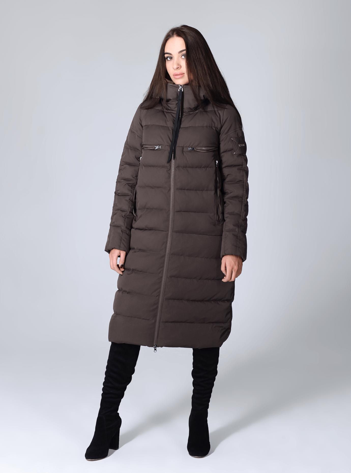 Куртка зимняя женская удлинённая Чёрный S (02-CR170261): фото - Alster.ua