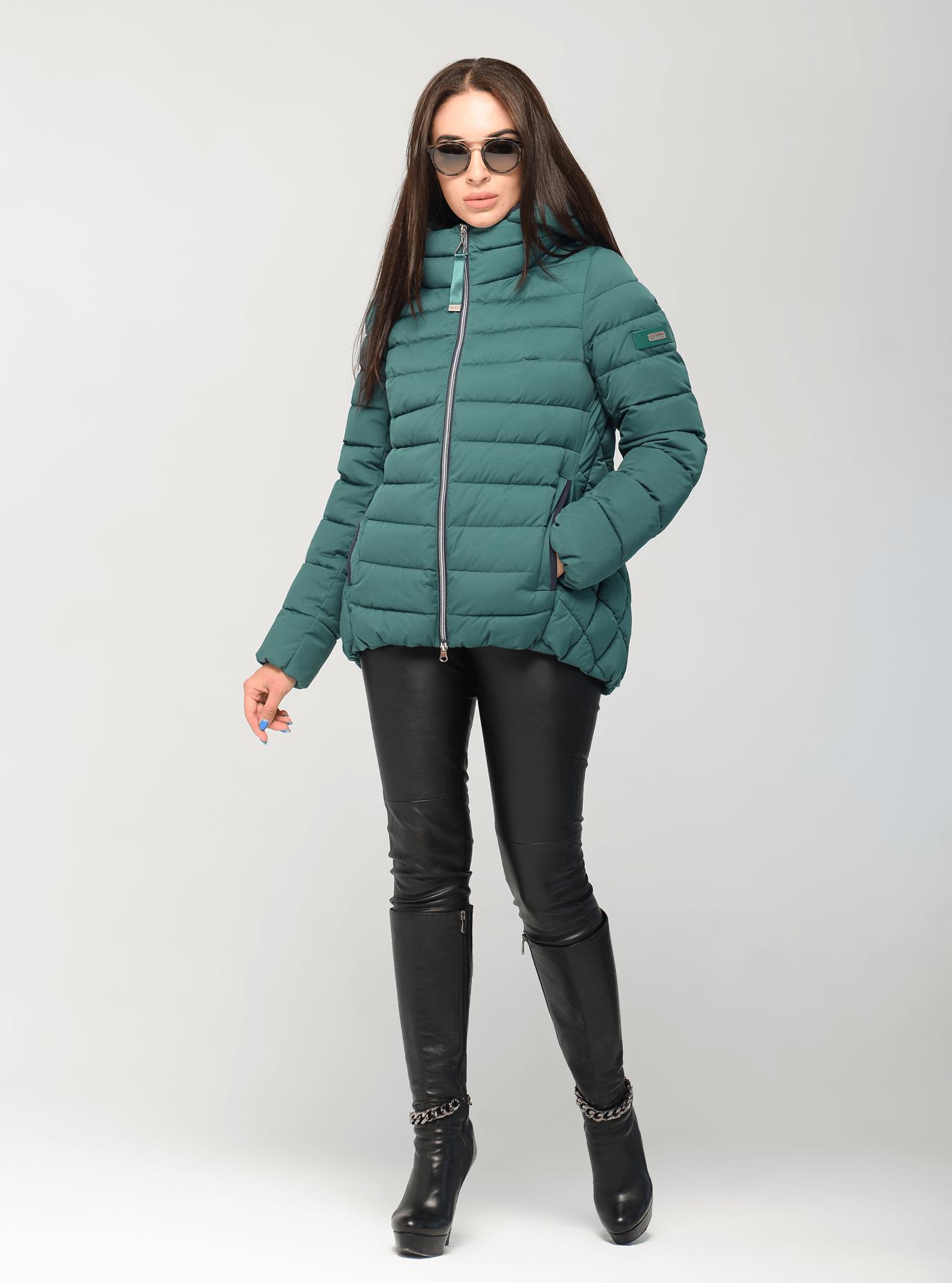 Куртка зимняя женская короткая Чёрный S (02-CR170276): фото - Alster.ua