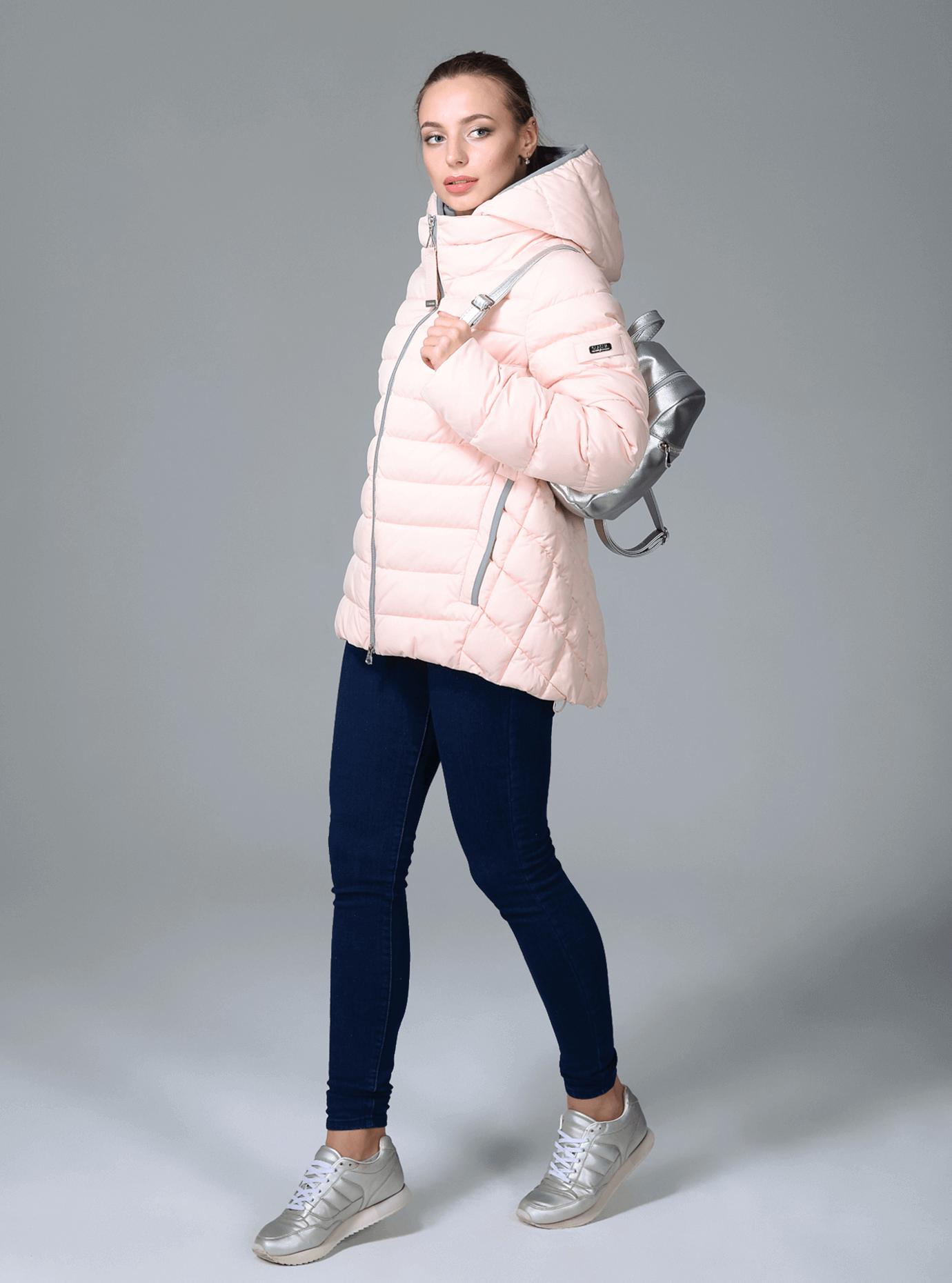 Куртка зимняя женская короткая Чёрный S (02-CR170277): фото - Alster.ua