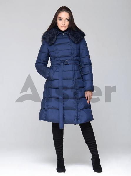 Куртка зимова жіноча з хутряним коміром