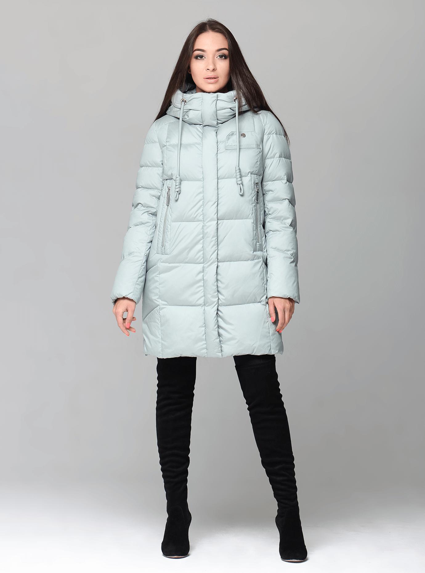 Куртка зимняя женская с капюшоном Чёрный S (02-CR170305): фото - Alster.ua