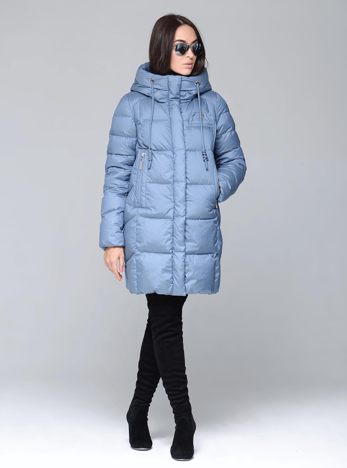 Куртка зимняя женская с капюшоном Чёрный S (02-CR170327): фото - Alster.ua