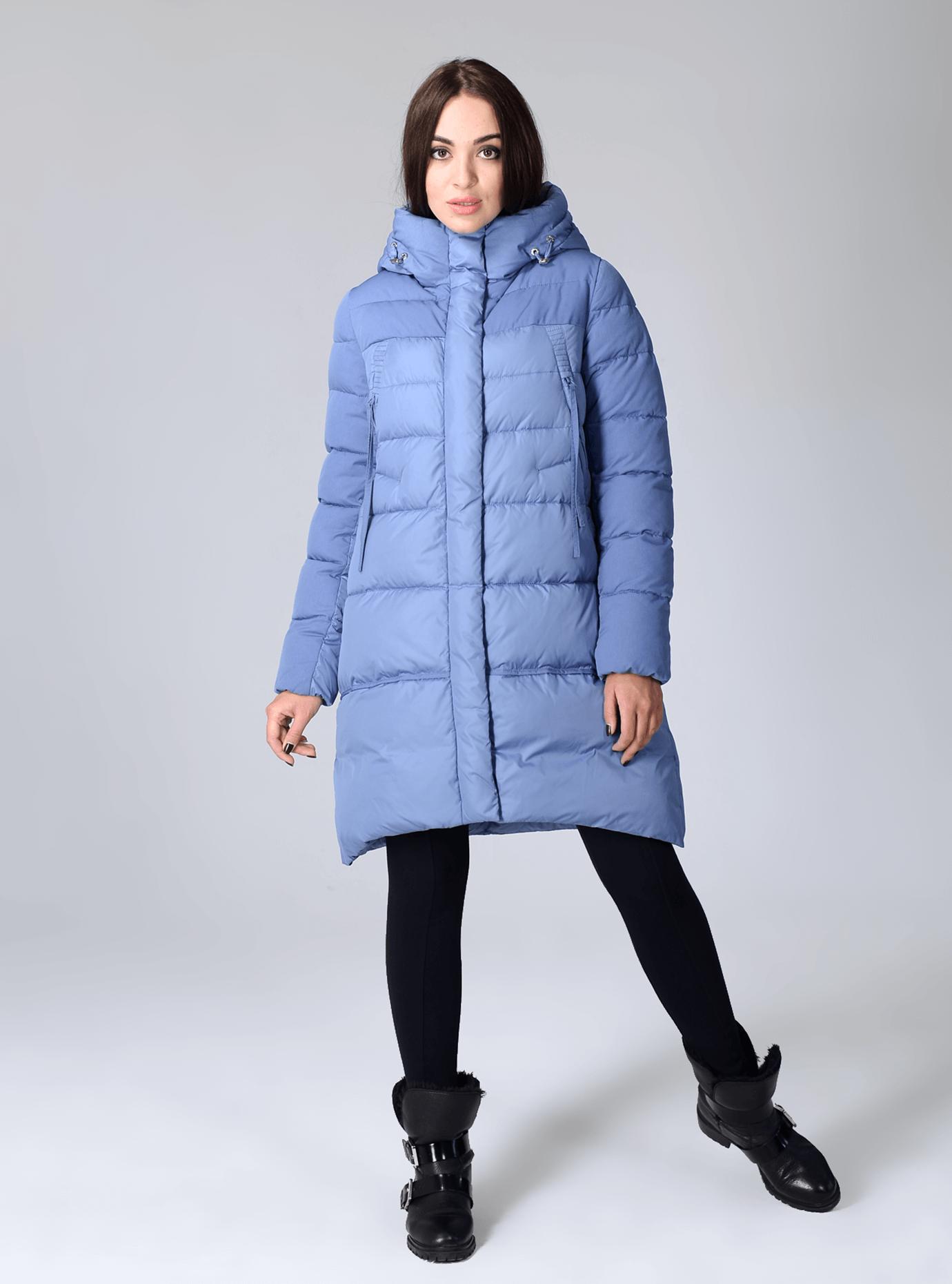 Куртка зимняя женская с капюшоном Чёрный S (02-CR170307): фото - Alster.ua