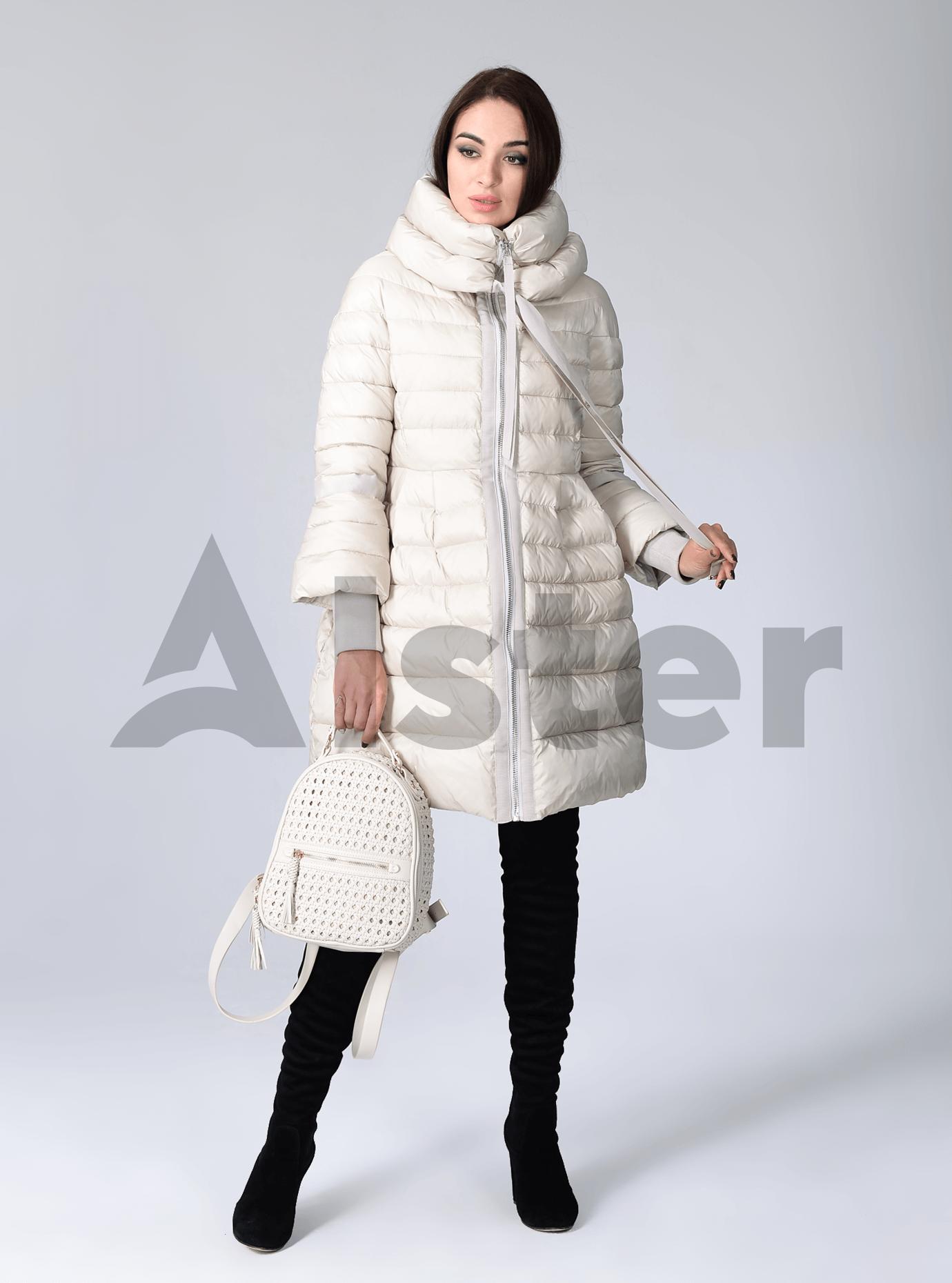 Куртка зимняя женская с манжетами Чёрный S (02-CR170312): фото - Alster.ua