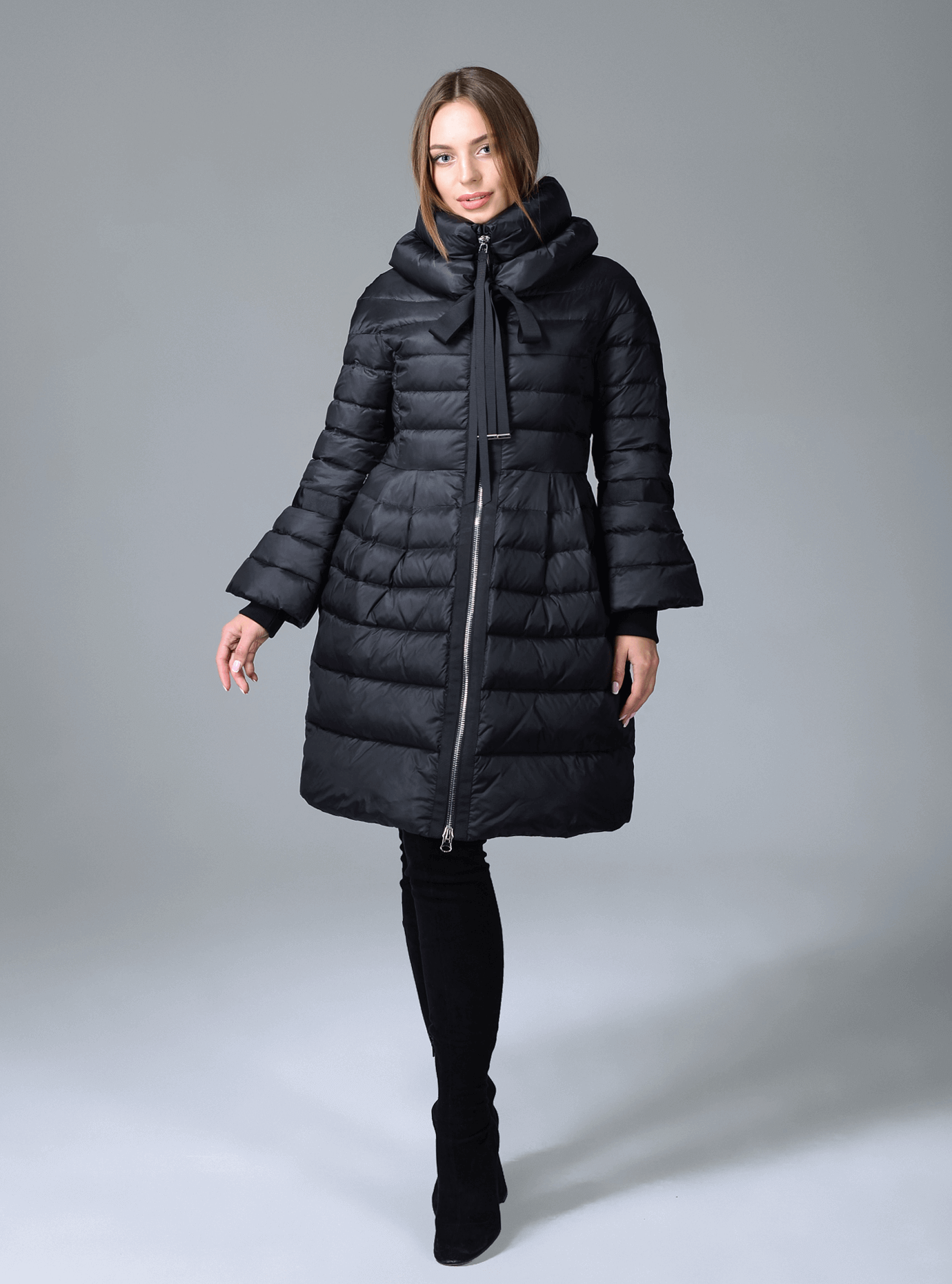 Куртка зимняя женская с манжетами Молочный M (02-CR170206): фото - Alster.ua