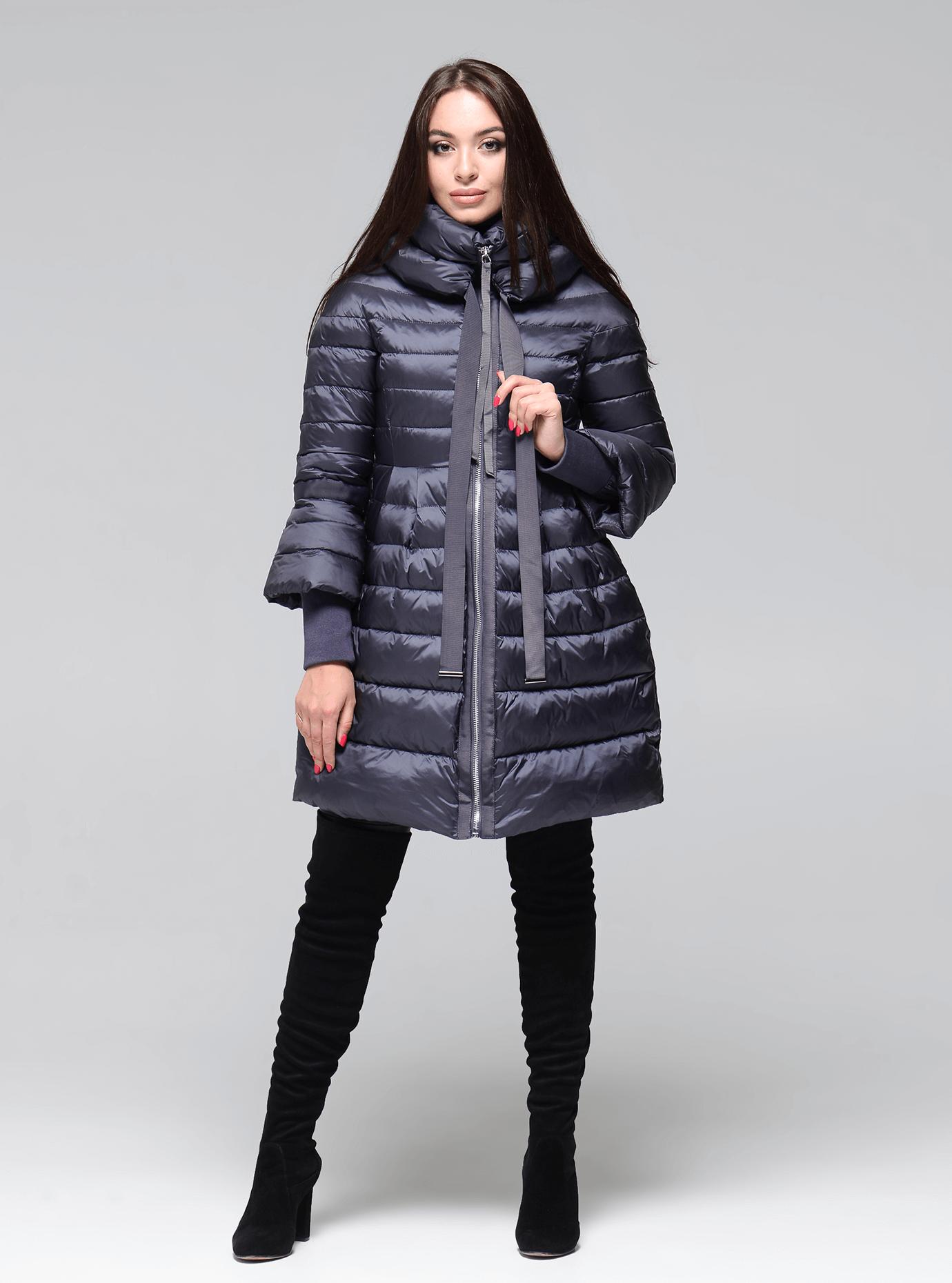 Куртка зимняя женская с манжетами Чёрный S (02-CR170313): фото - Alster.ua