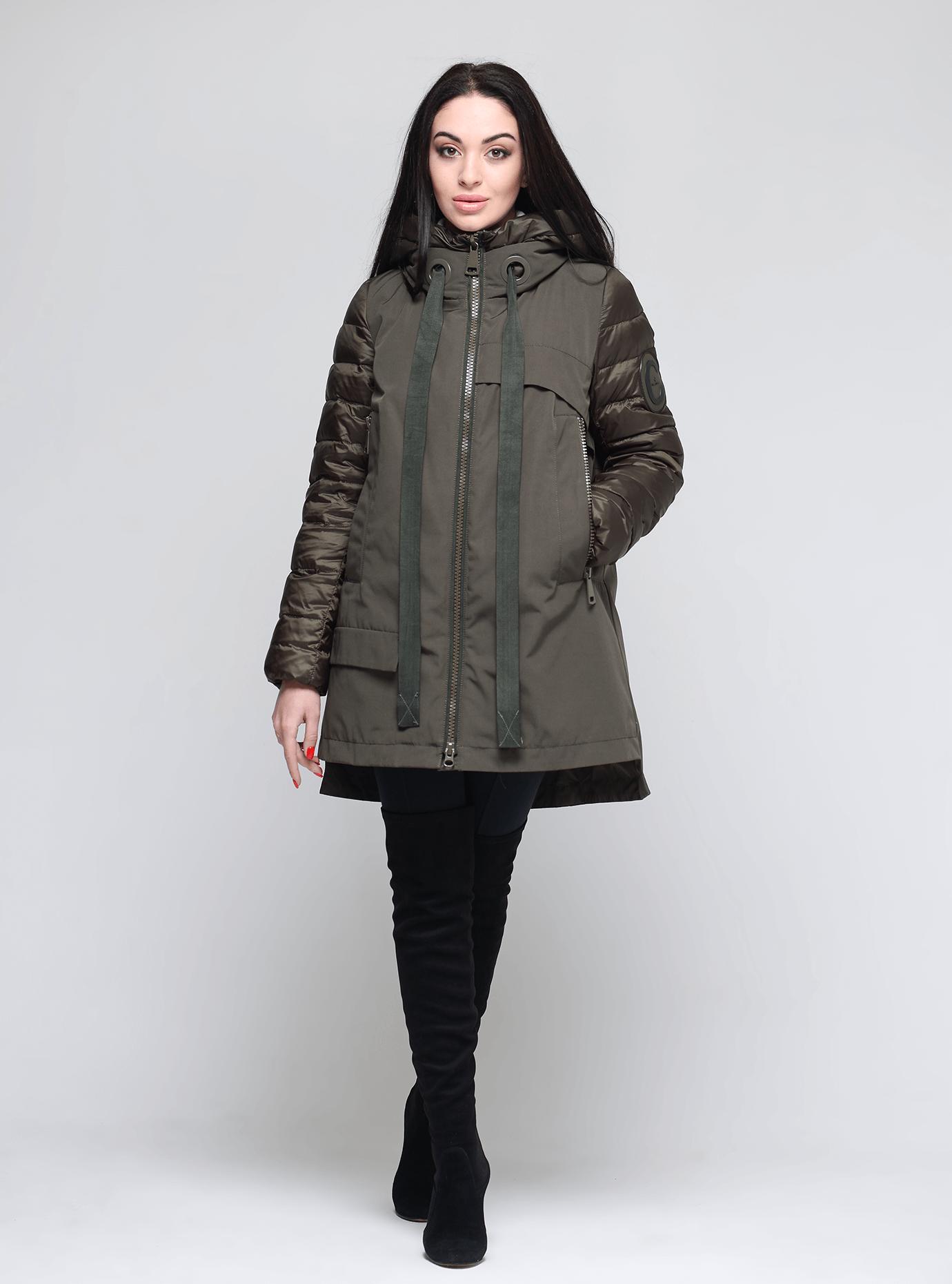 Зимняя женская куртка Хаки L (02-190229): фото - Alster.ua