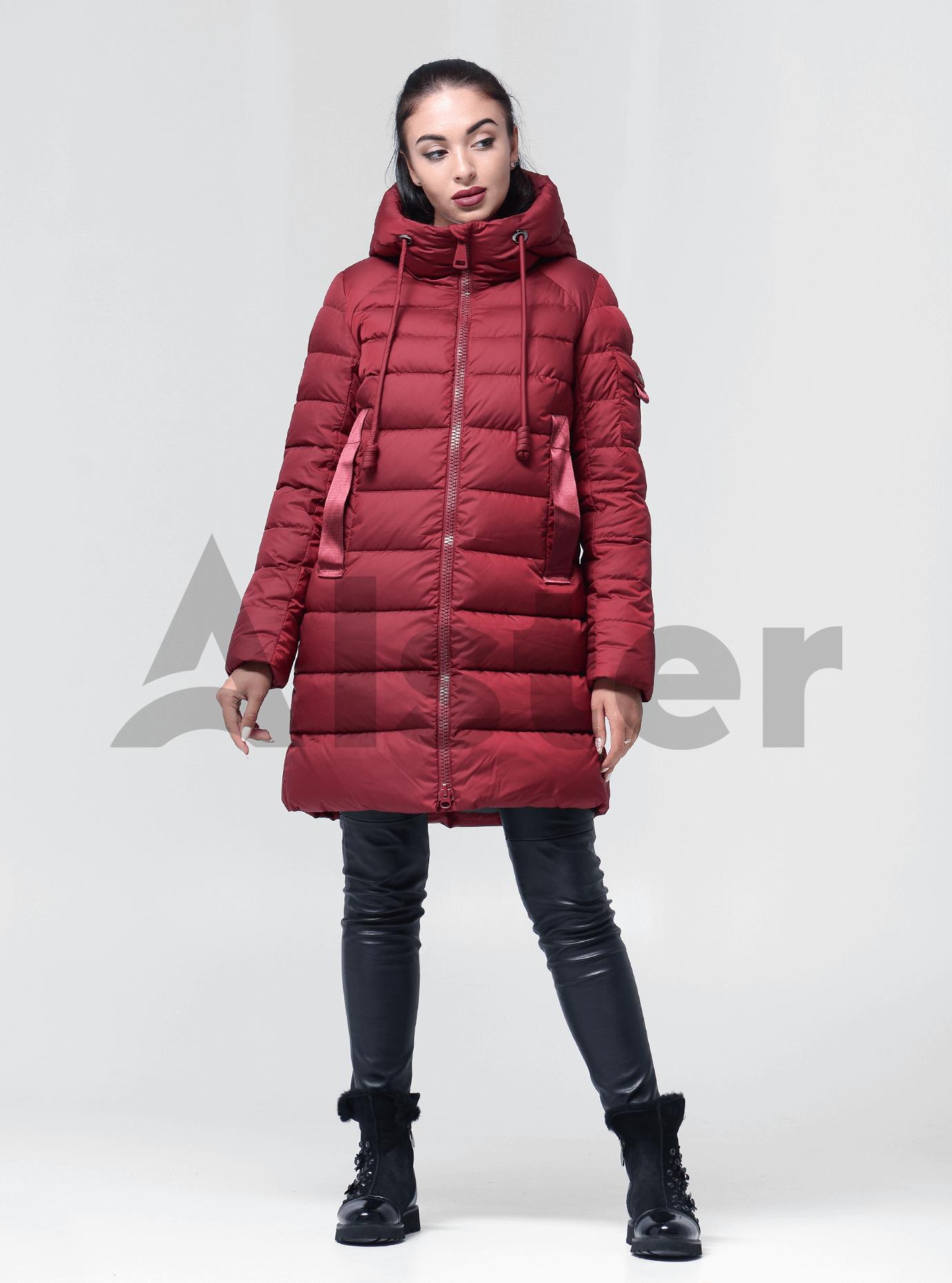 Пуховик женский с капюшоном Бордо XL (02-4676): фото - Alster.ua
