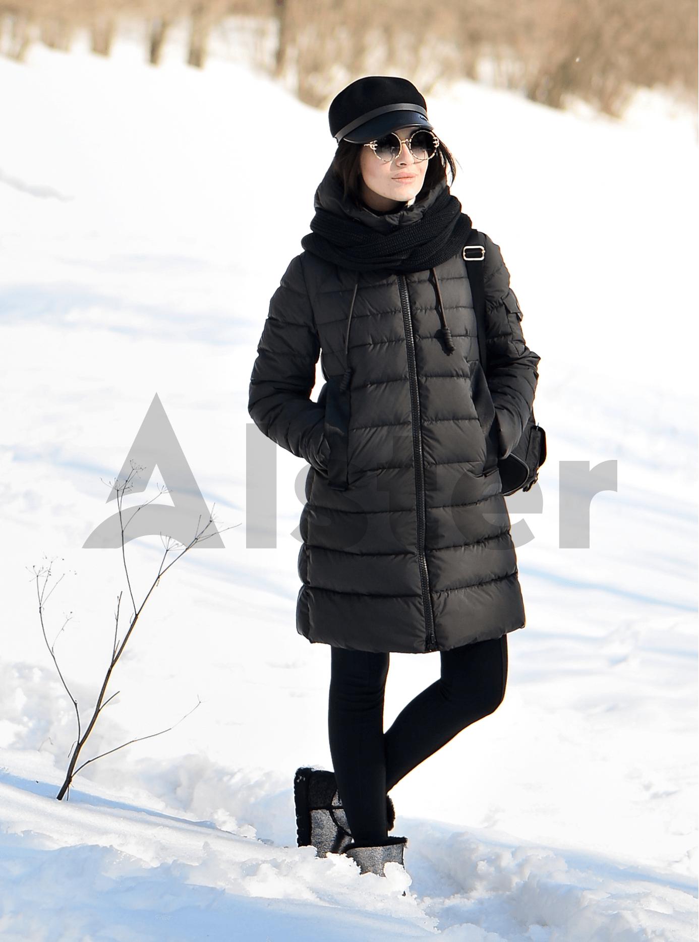 Пуховик женский (большие размеры) Чёрный 48 (01-9052): фото - Alster.ua
