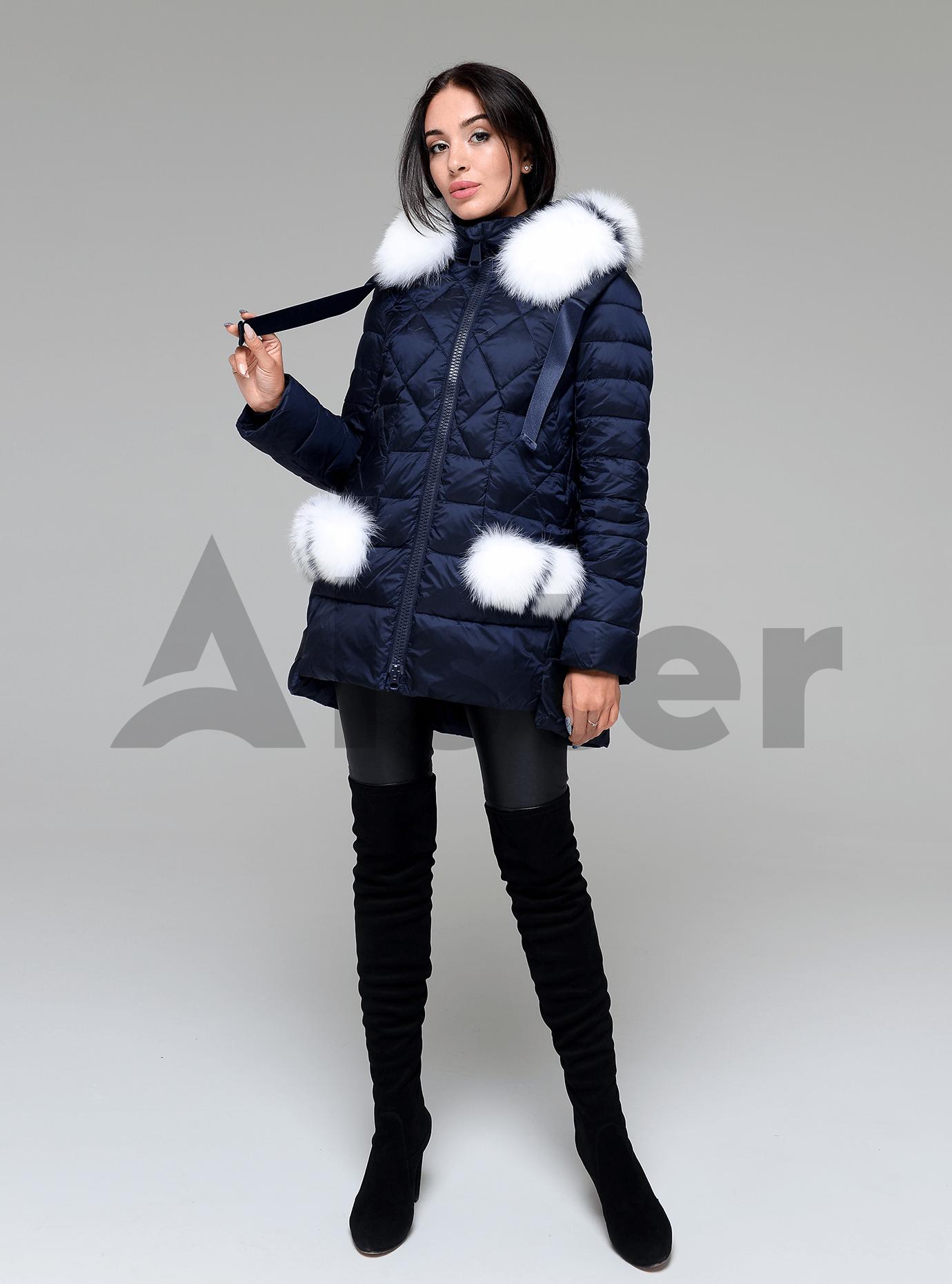 Куртка зимняя женская с мехом Синий 2XL (02-4702): фото - Alster.ua