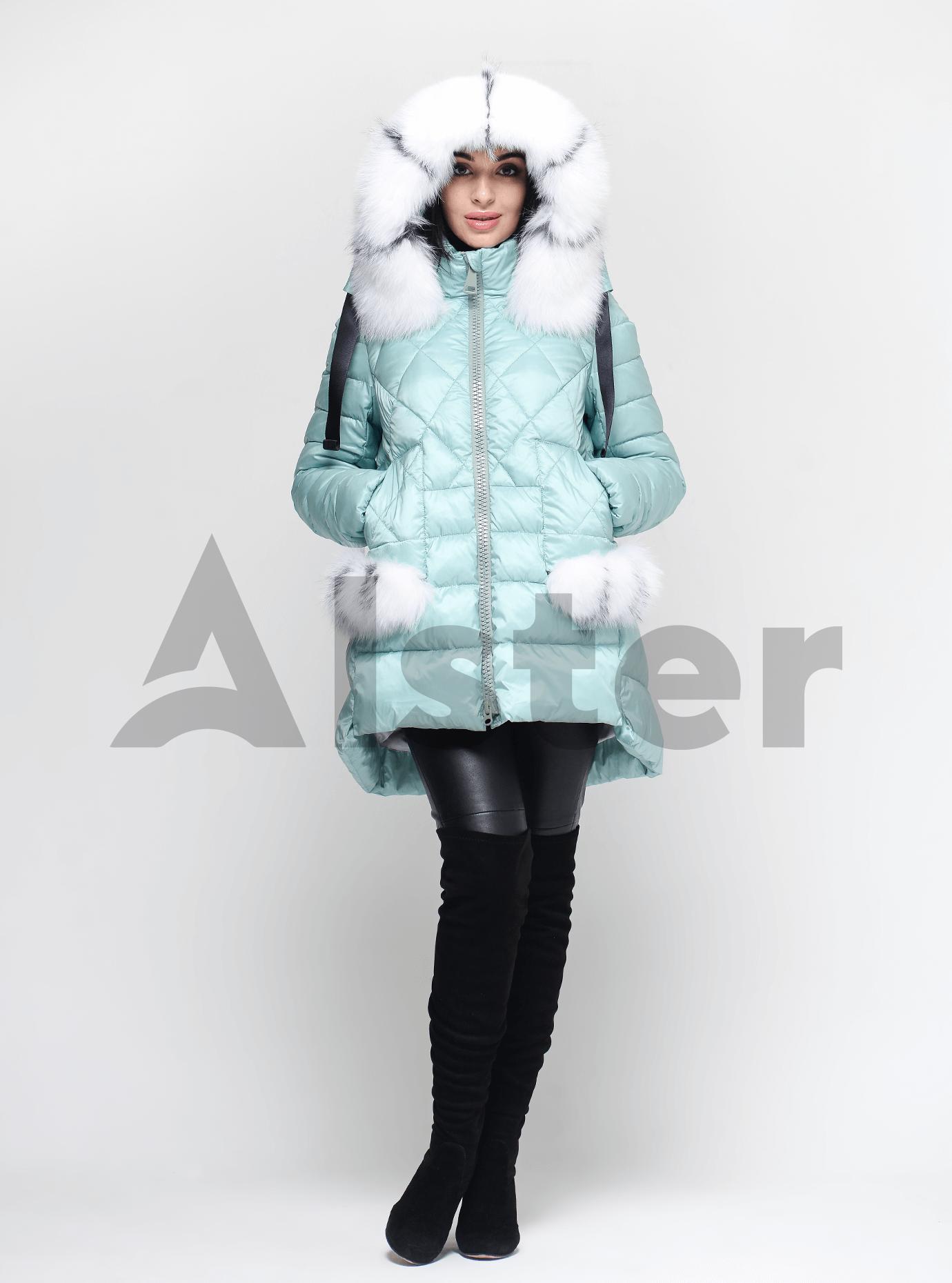 Куртка зимняя женская с мехом Мята XL (02-4697): фото - Alster.ua
