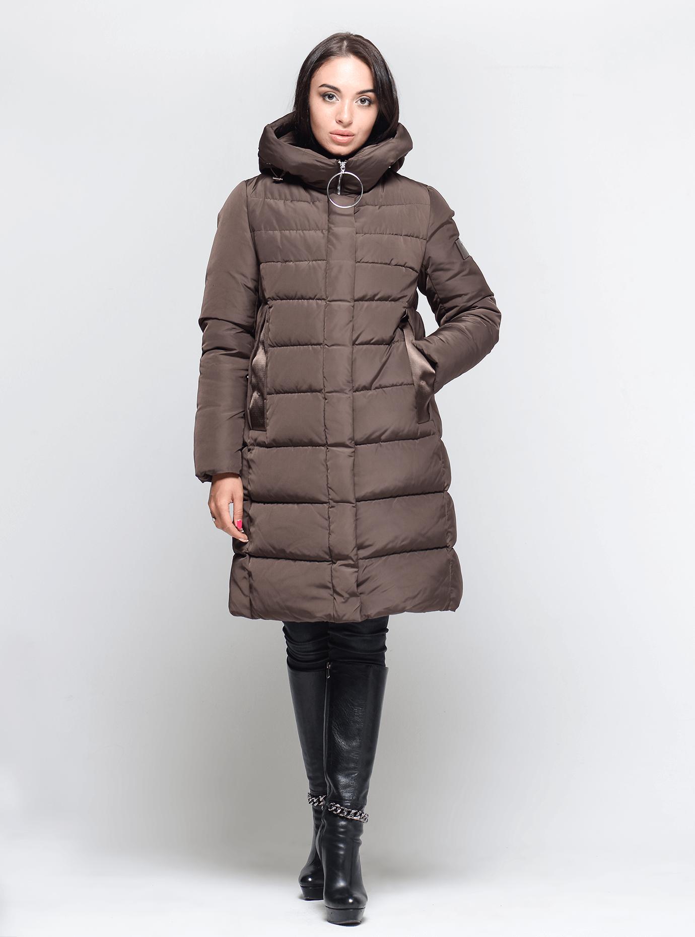 Зимняя женская куртка Коричневый M (02-190232): фото - Alster.ua