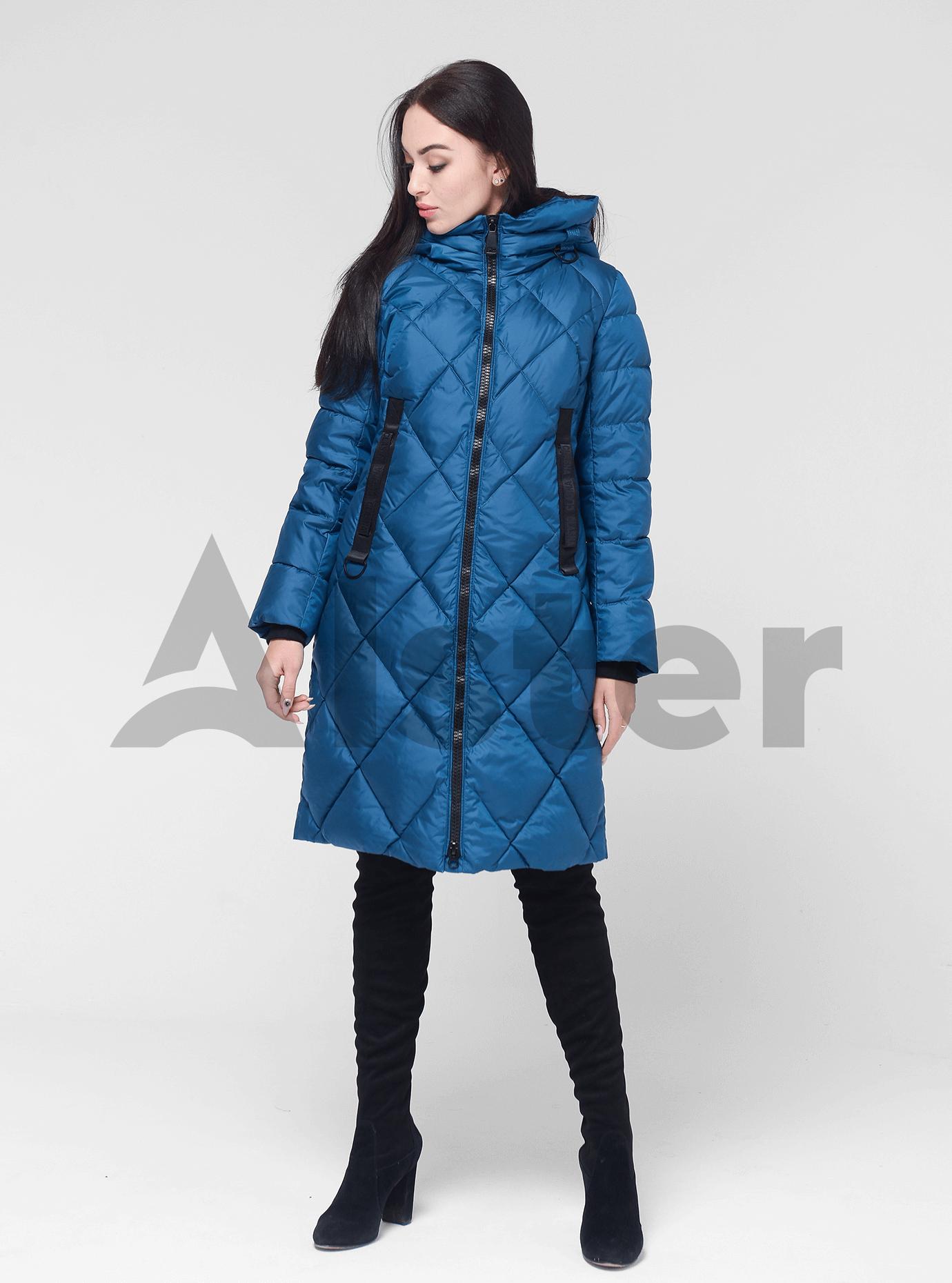 Жіноча зимова куртка Блакитний M (02-190303): фото - Alster.ua