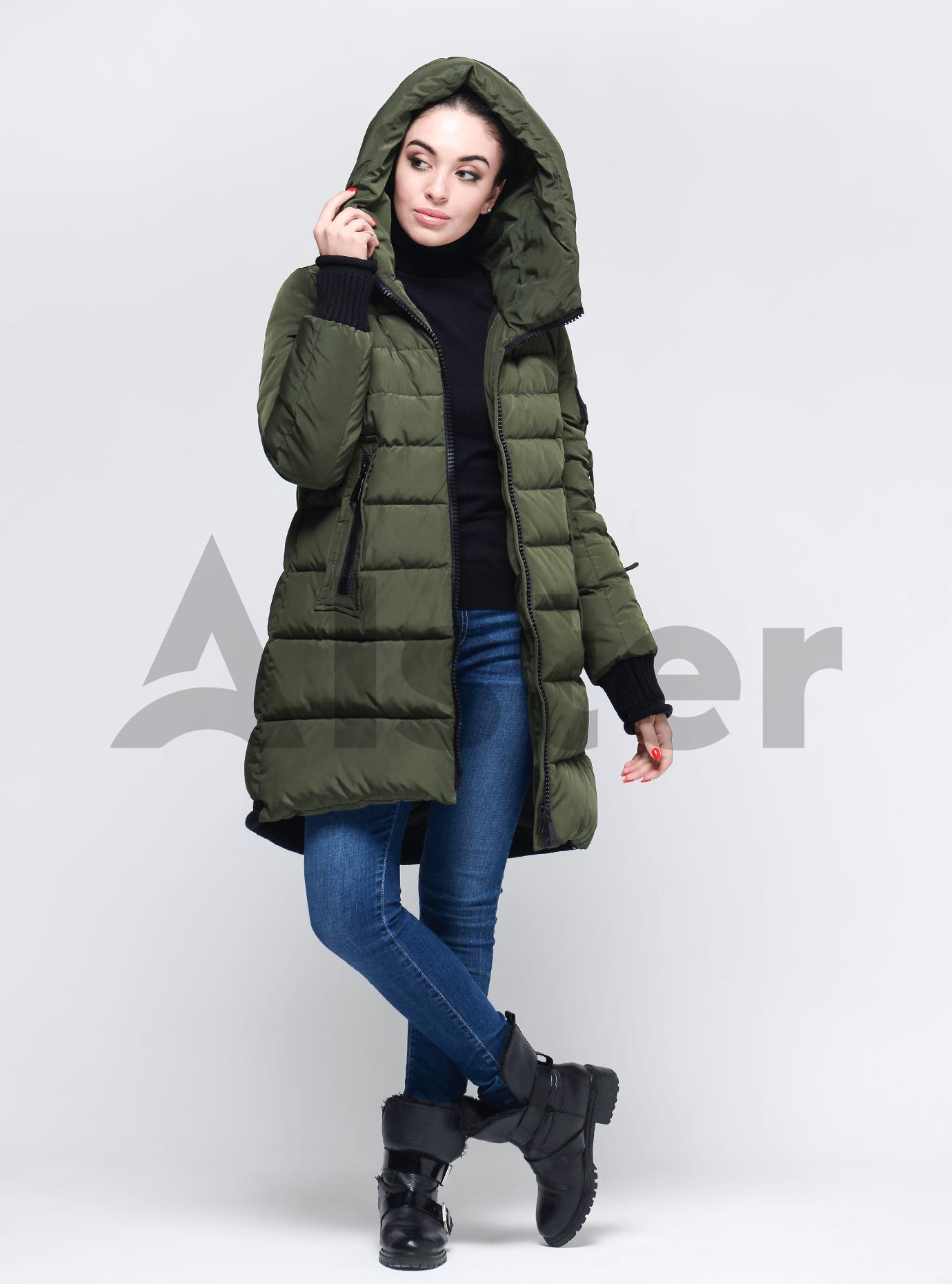 Жіноча зимова куртка Хакі S (02-190240): фото - Alster.ua