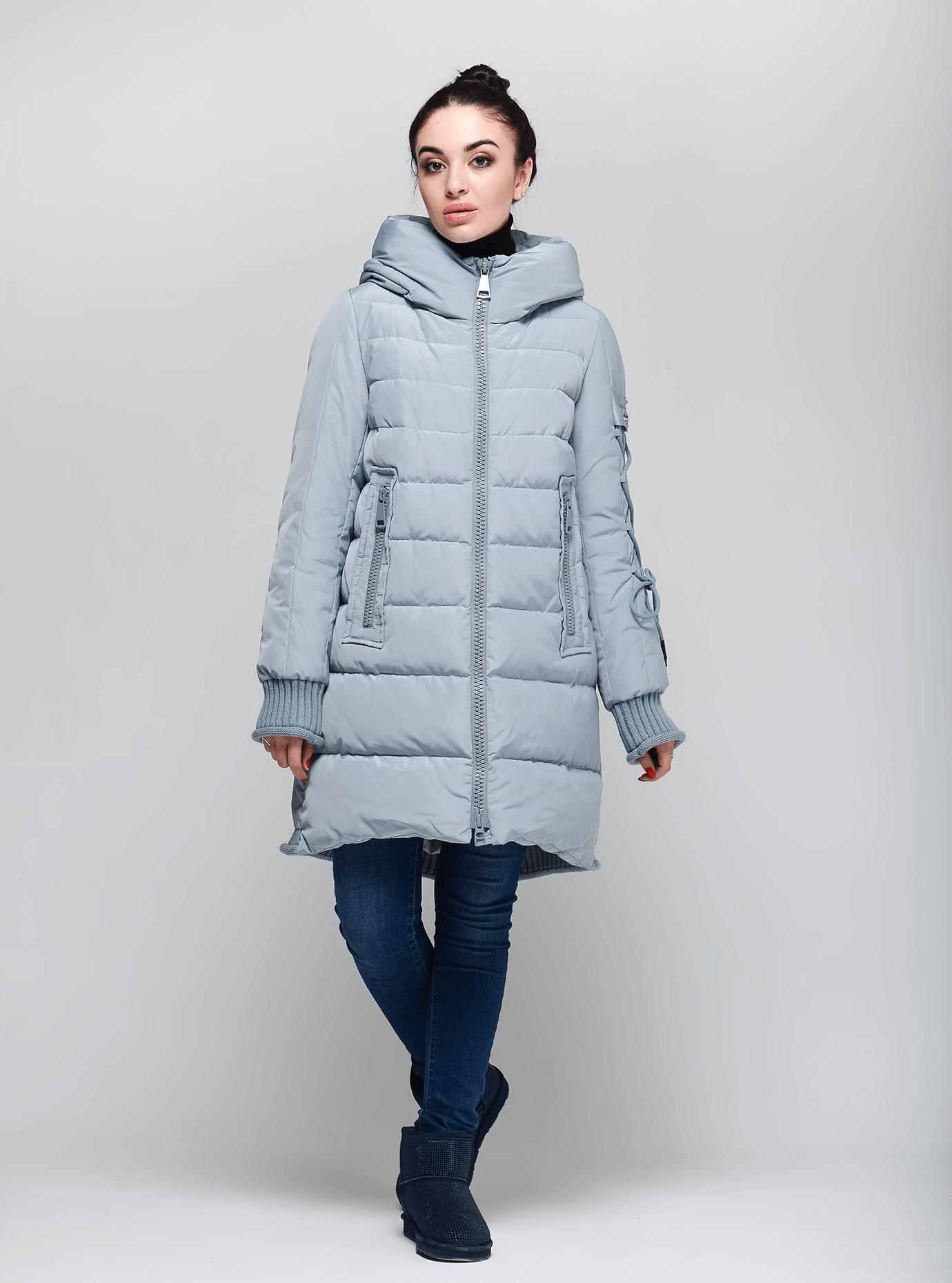 Женская зимняя куртка Светло-голубой S (02-190242): фото - Alster.ua