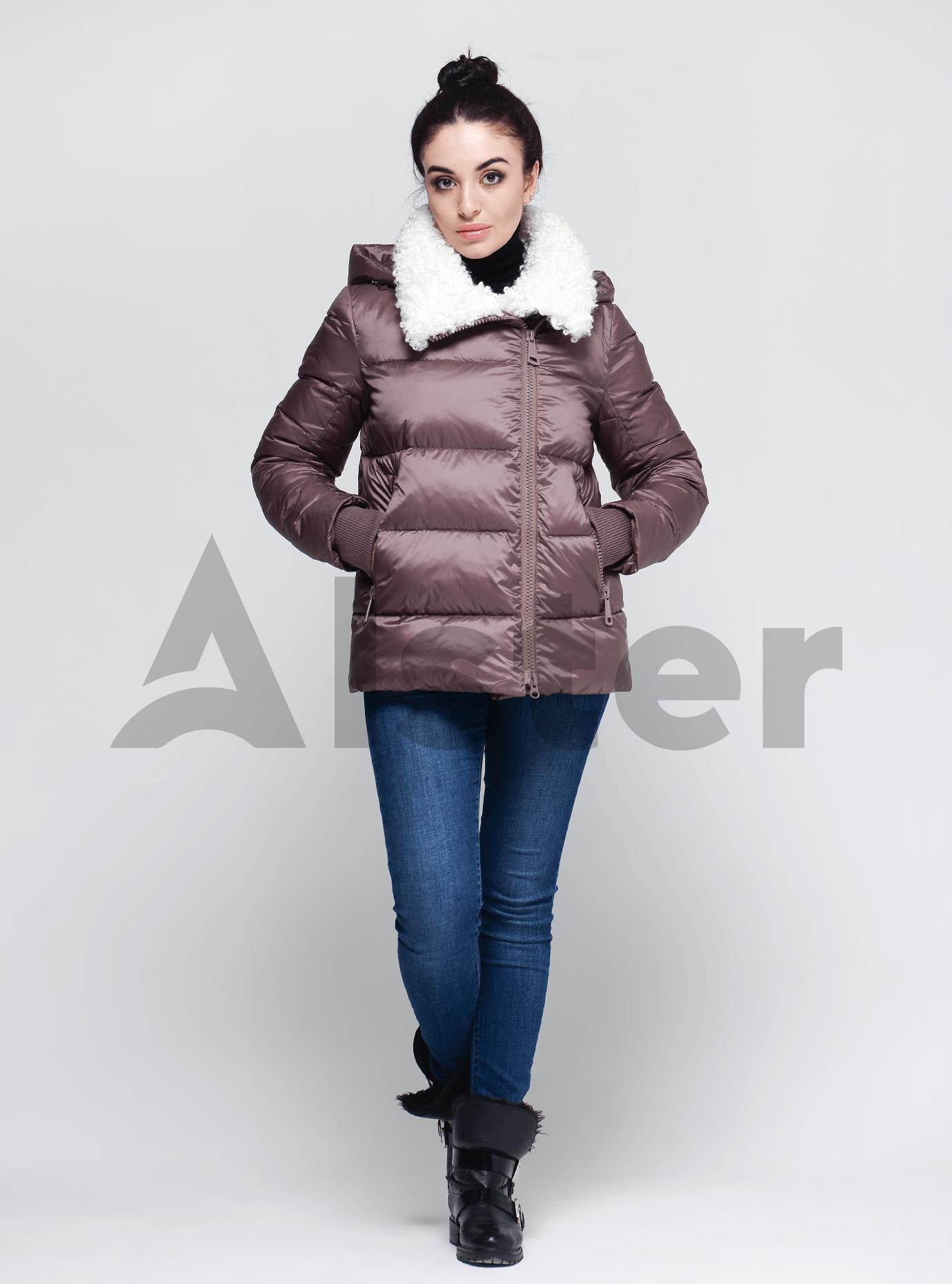 Куртка женская зимняя с искусственным мехом Розовый 2XL (01-9045): фото - Alster.ua