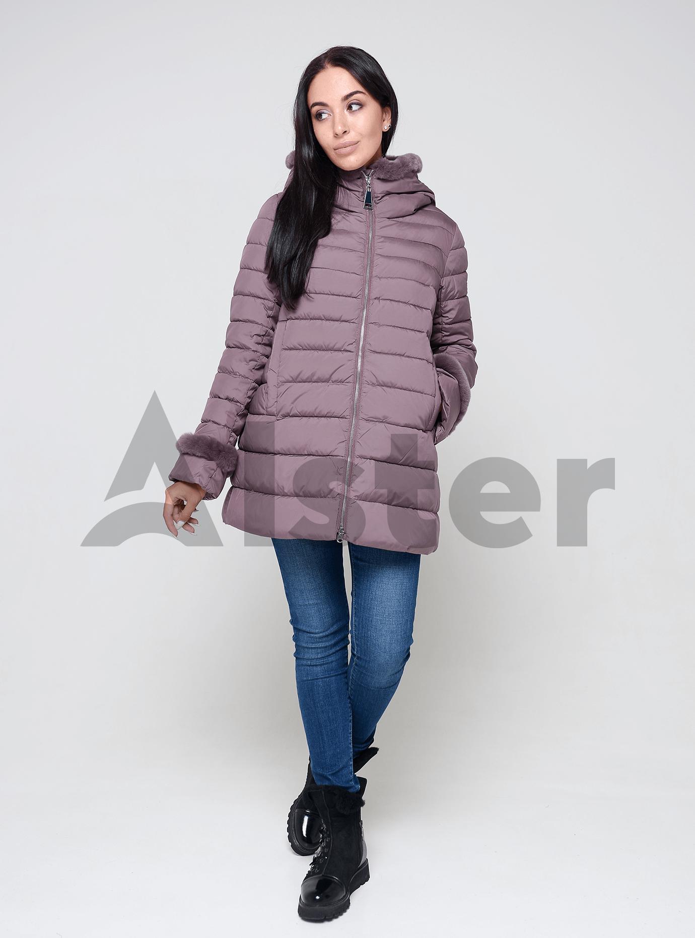 Куртка женская зимняя с мехом кролика Чёрный 56 (02-4650): фото - Alster.ua