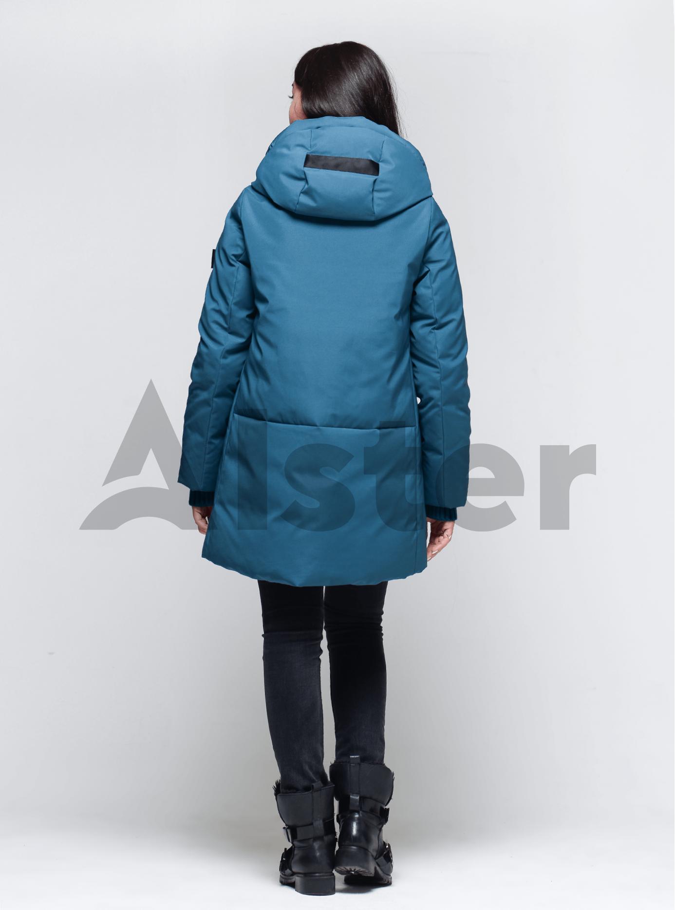 Пуховик женский с натуральным пухом Тёмно-голубой M (02-4664): фото - Alster.ua