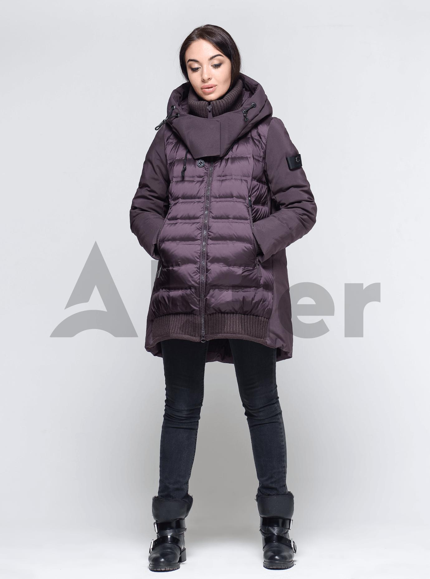 Пуховик женский с натуральным пухом Сливовый XL (01-9050): фото - Alster.ua
