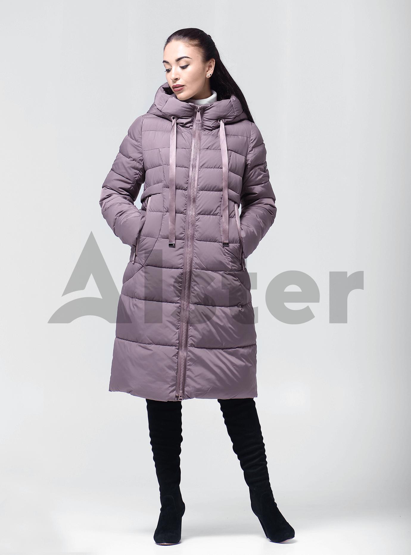 Пуховик женский с капюшоном Серо-бежевый XL (01-9043): фото - Alster.ua
