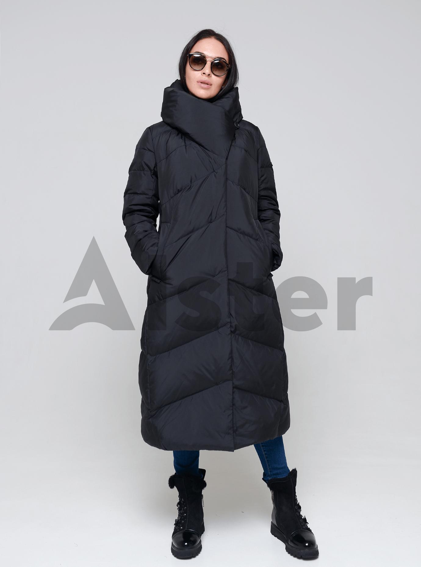 Пуховик женский натуральный Чёрный 3XL (01-9003): фото - Alster.ua