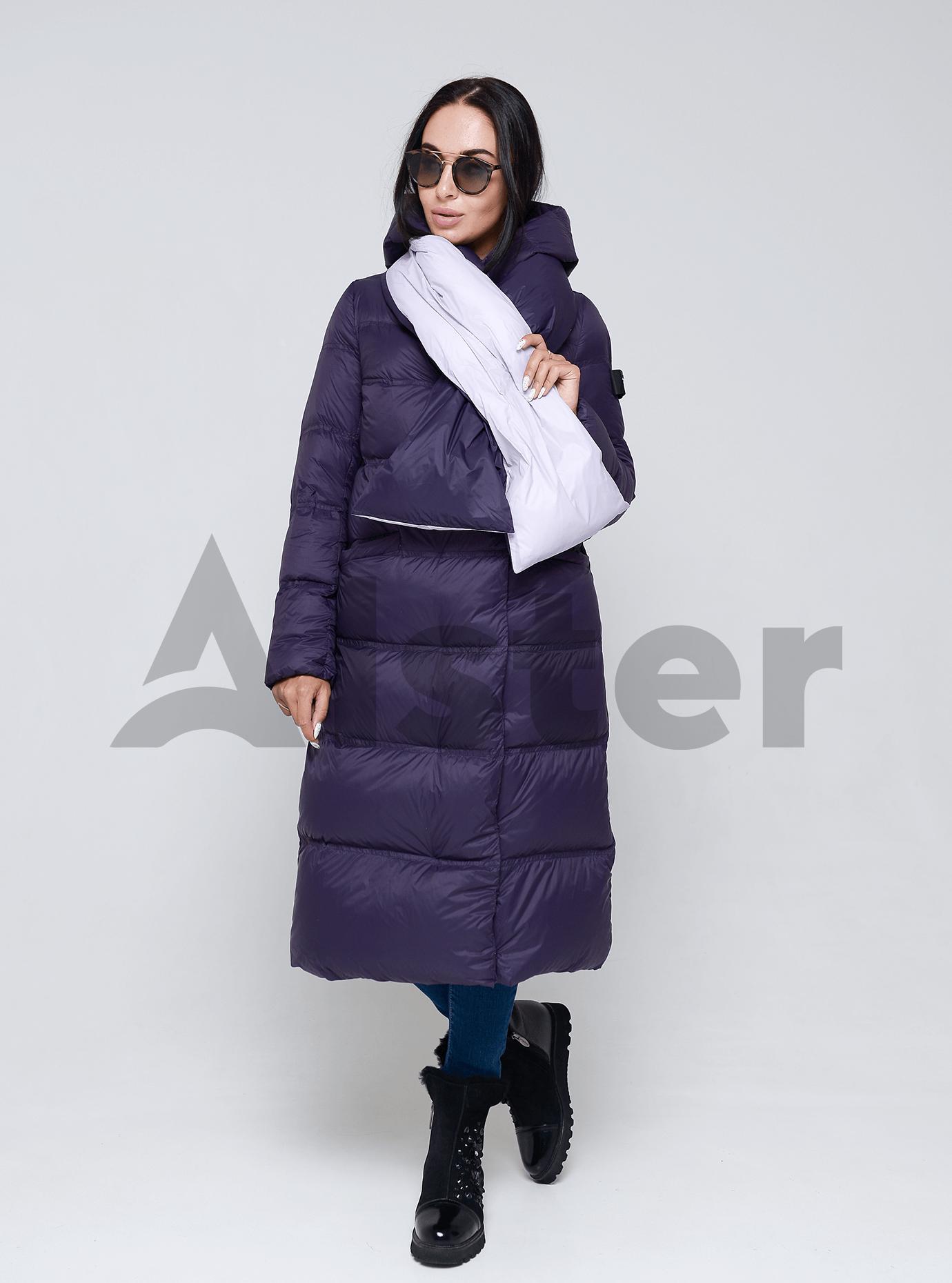 Пуховик женский с капюшоном Фиолетовый XL (01-9041): фото - Alster.ua