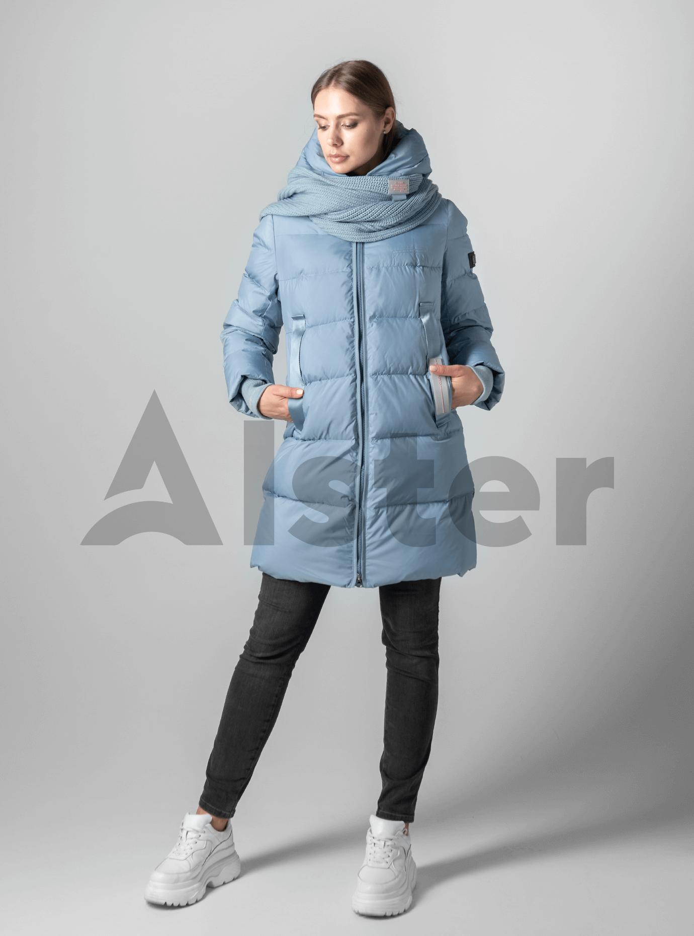 Куртка зимняя однотонная мятная Тёмно голубой XL (02-190140): фото - Alster.ua