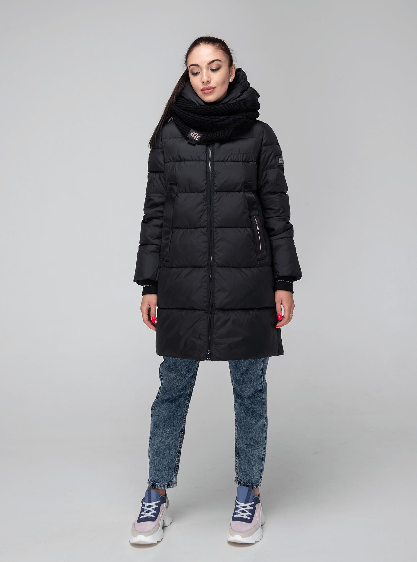 Куртка зимняя однотонная Чёрный L (02-190138): фото - Alster.ua