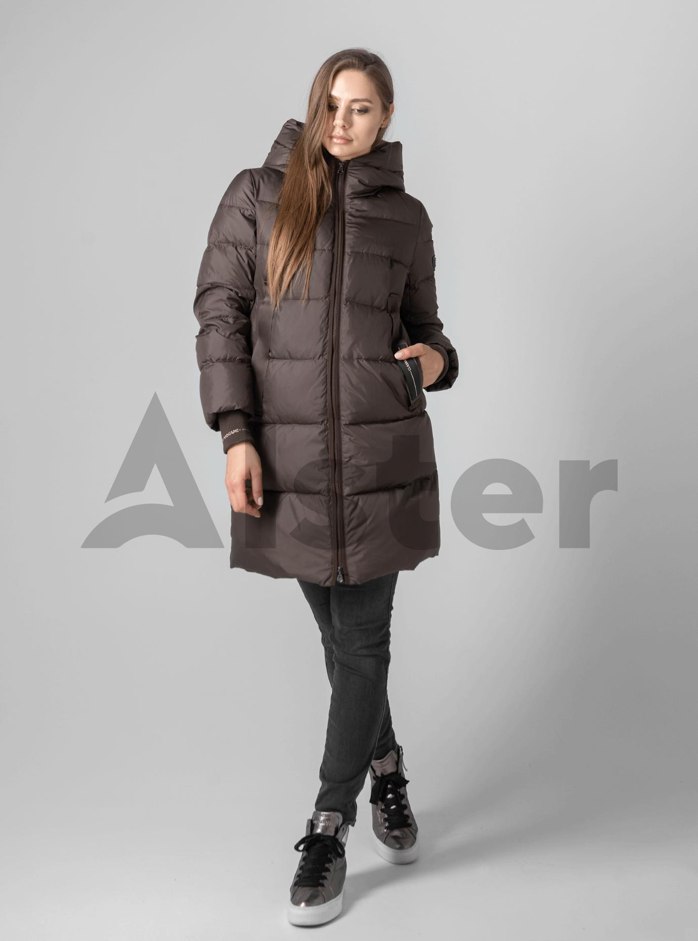 Куртка зимняя однотонная Шоколадный XL (02-190141): фото - Alster.ua