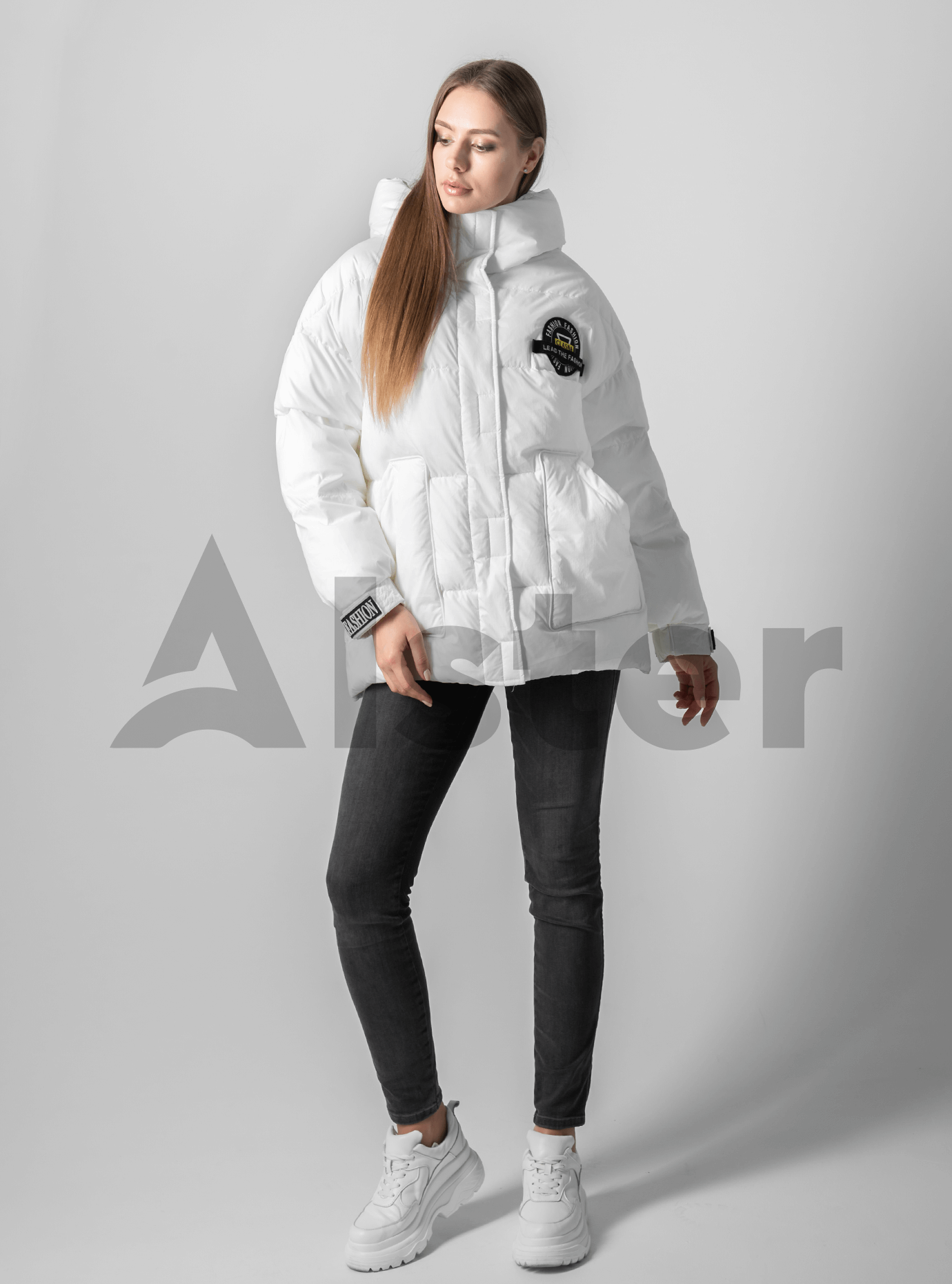 Куртка женская зимняя с наполнителем Белый M (02-4577): фото - Alster.ua