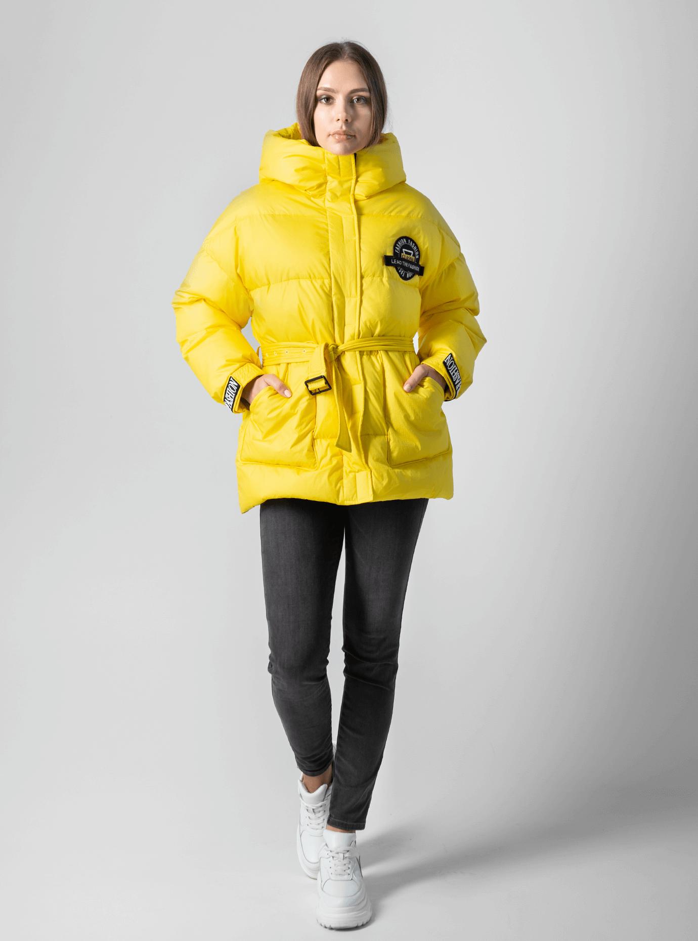 Куртка женская зимняя с наполнителем Жёлтый L (02-4574): фото - Alster.ua